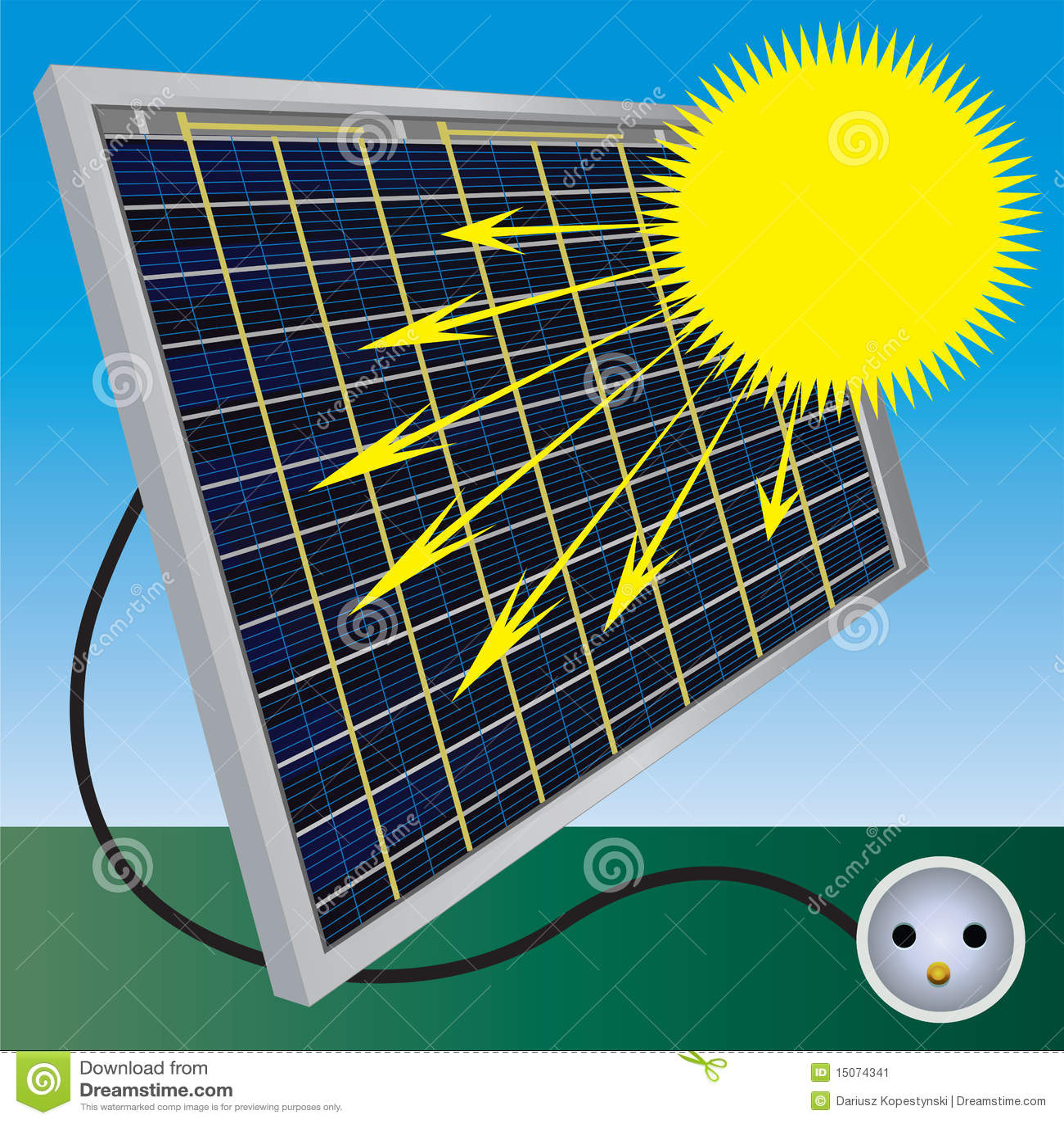 Solar Electric Power Stock Image Image 15074341