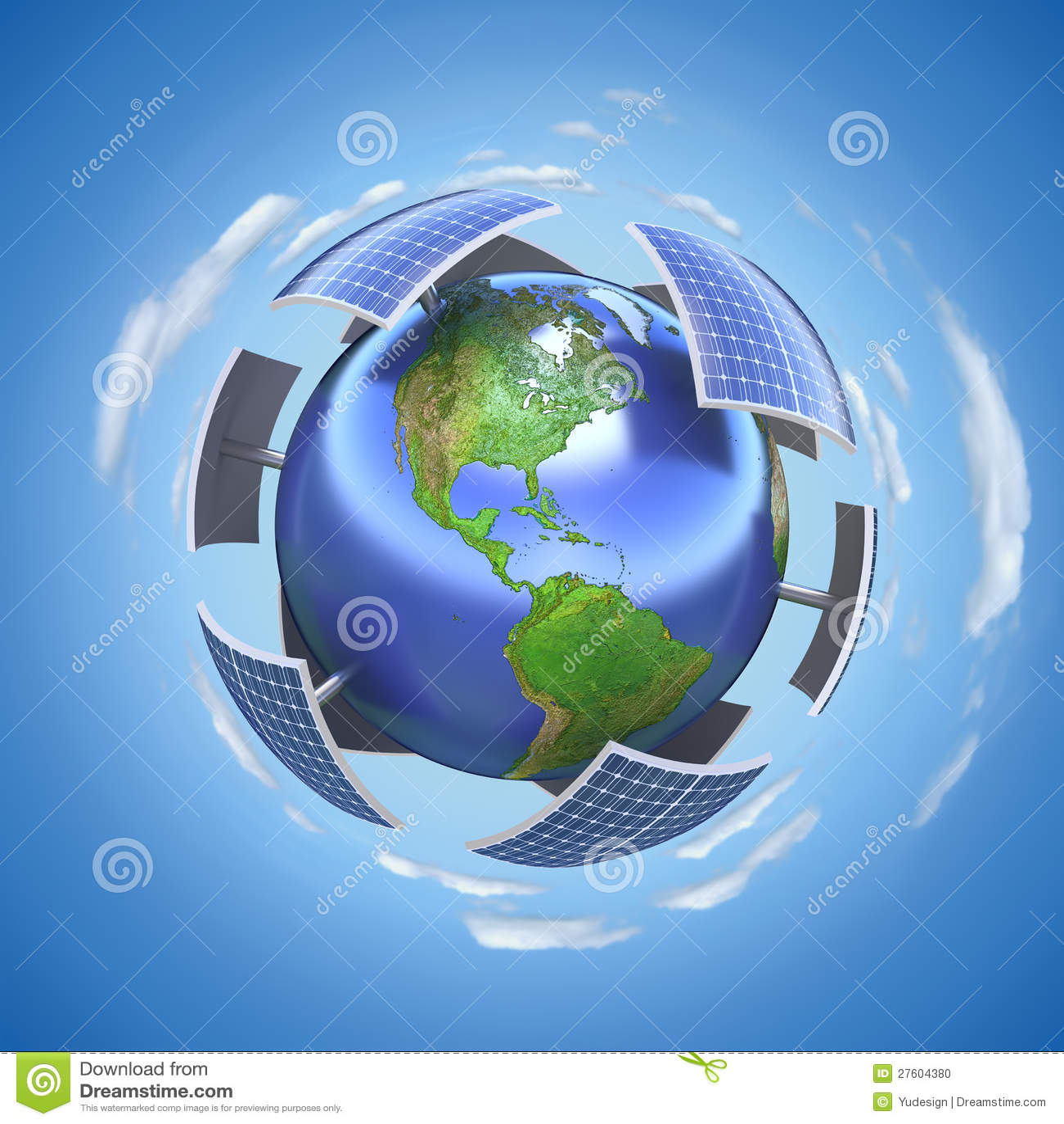 Solar Energy Concept Stock Illustration Image Of