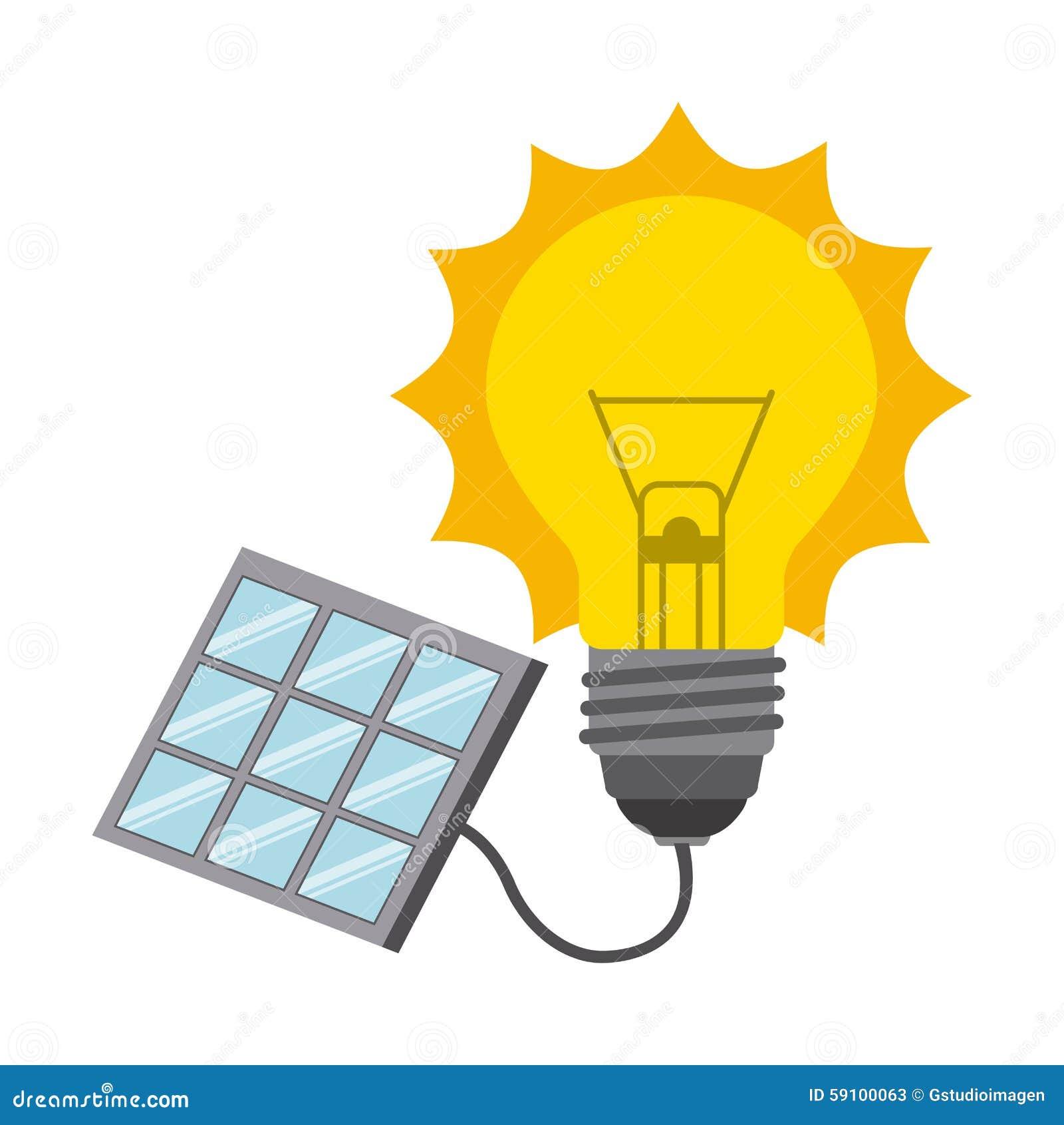 Solar energy design, vector illustration eps10 graphic.