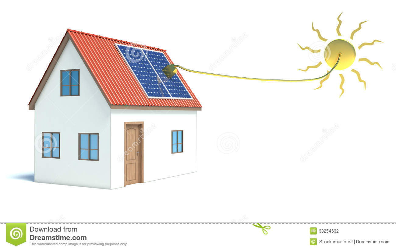 Solar energy house stock photography image 38254632 for Energy house