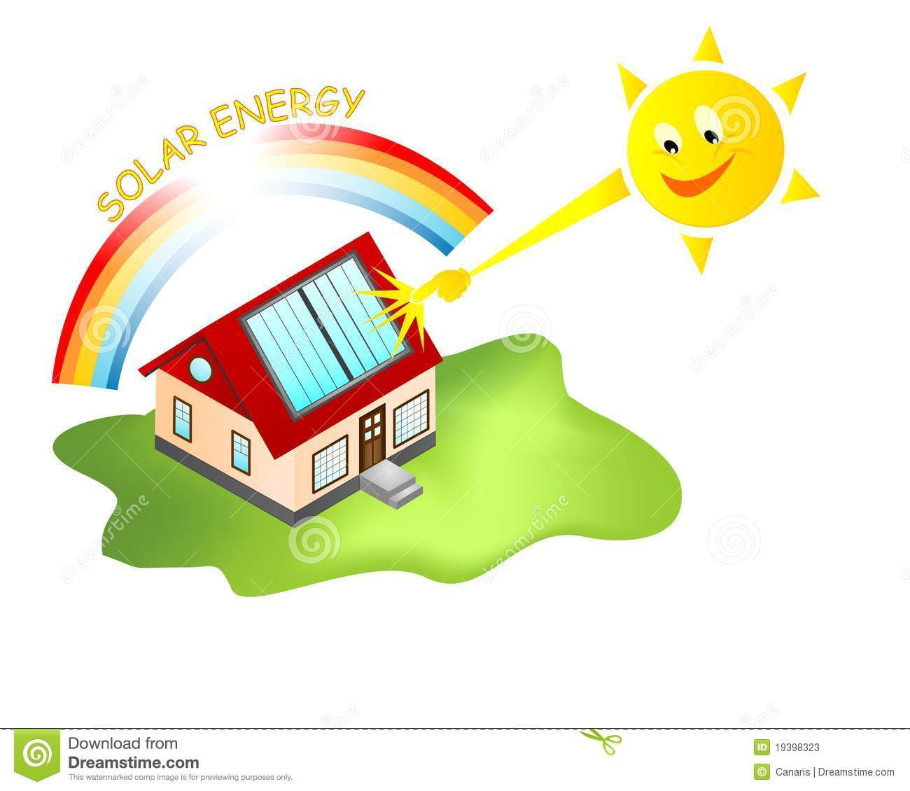 Solar Energy House, Cdr Vector Stock Photos - Image: 19398323
