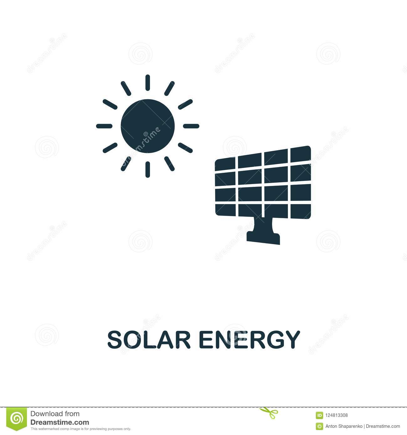 Solar Energy Icon Monochrome Style Design From Power And Energy Icon Collection Ui Pixel Perfect Simple Pictogram Solar Energy Stock Illustration Illustration Of Illustration Alternative 124813308