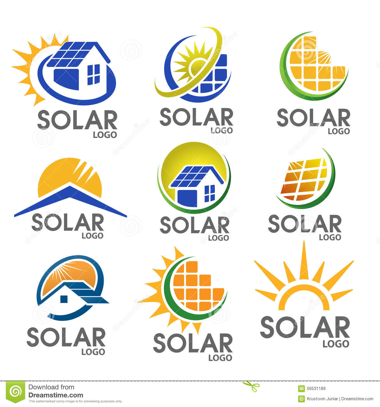 solar energy logo stock vector image of crowd object