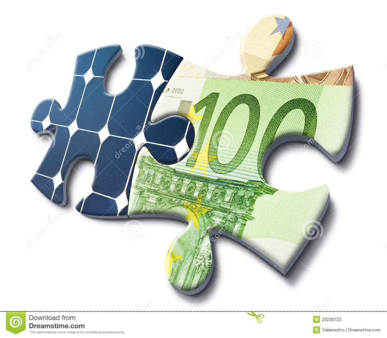 Solar Panel Yearly Savings: Solar Energy Is Money Saving Stock Photos