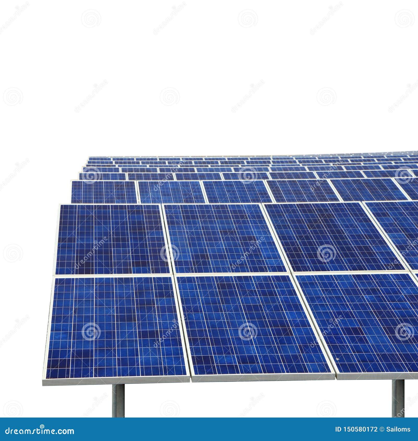 Solar farm eco photovoltaic power station isolated