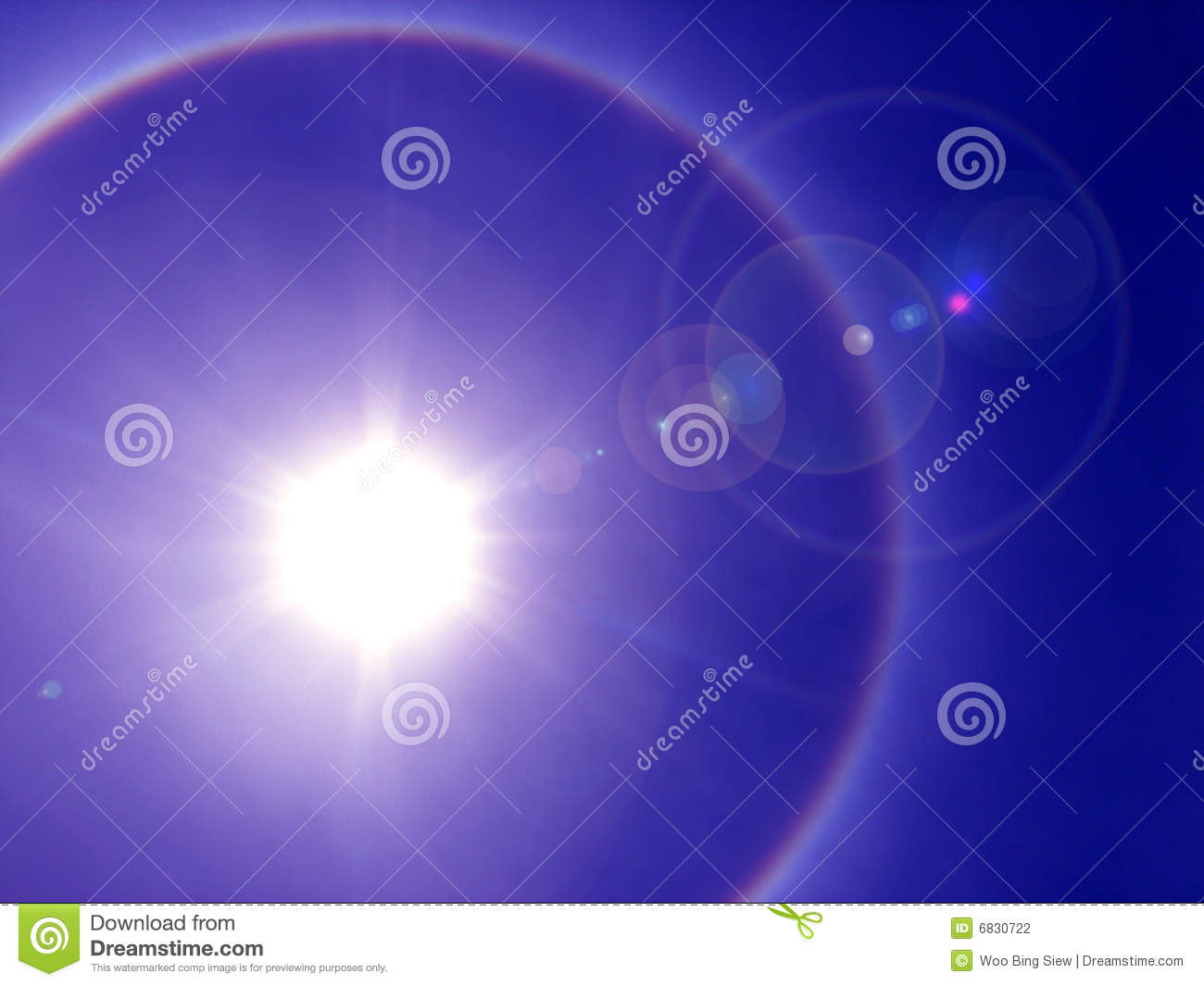 Download Solar halo stock photo. Image of solar, purple, blue, phenomena - 6830722