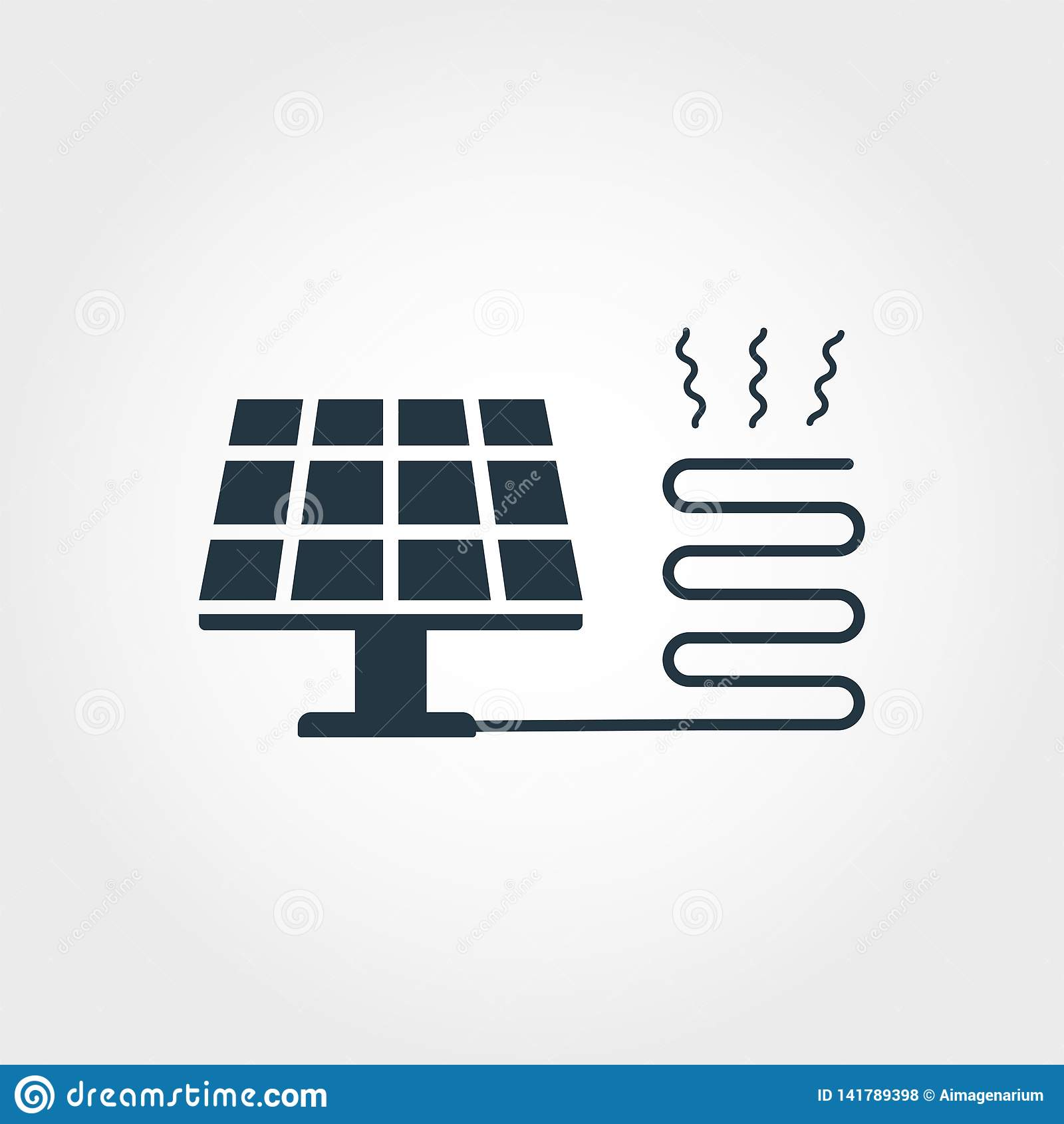 Solar Heating Creative Icon Monochrome Style Design From Urbanism Icons Collection Solar Heating Icon For Web Design Stock Vector Illustration Of Alternative Icon 141789398