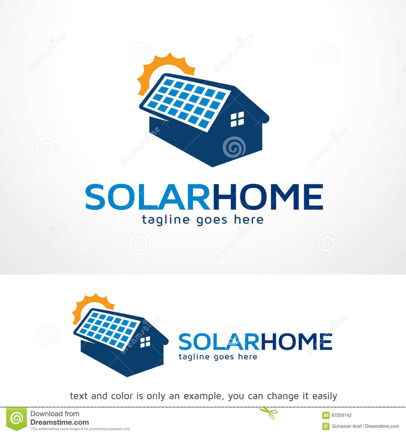 solar home logo template design vector stock vector