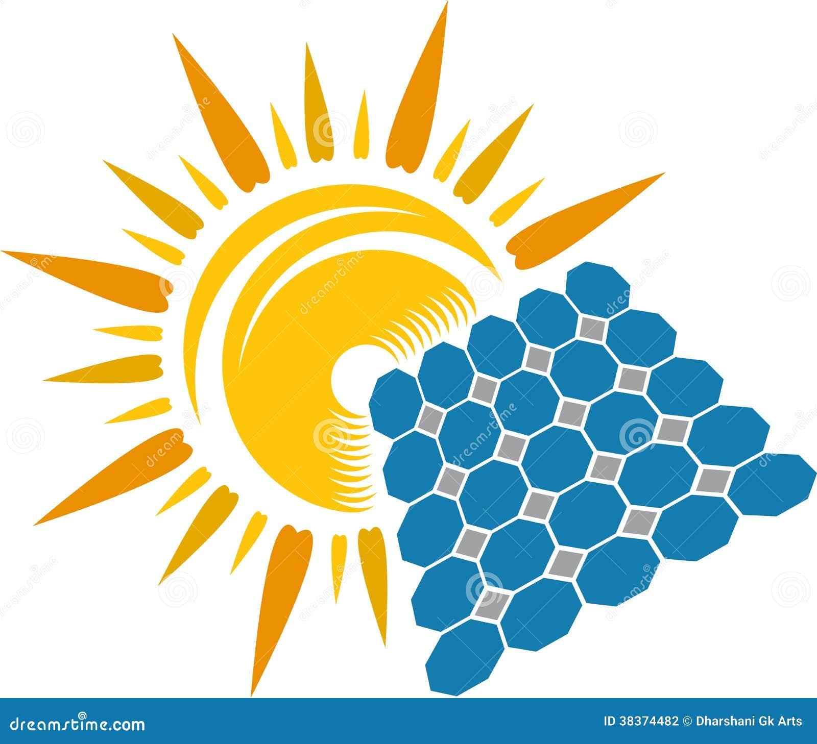 Solar Power Logo Design