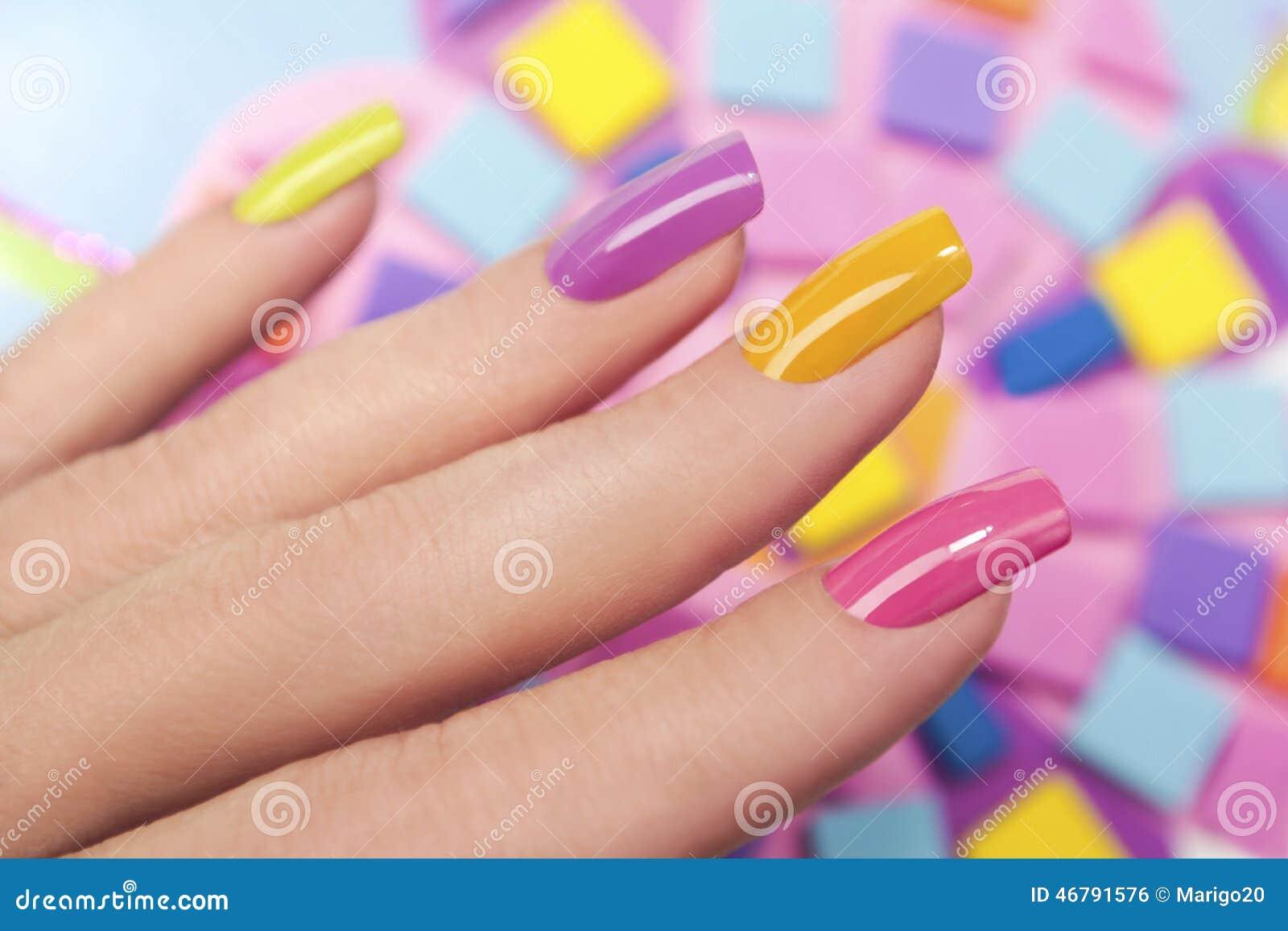 Solar nails. stock photo. Image of acrylic, rectangular - 46791576