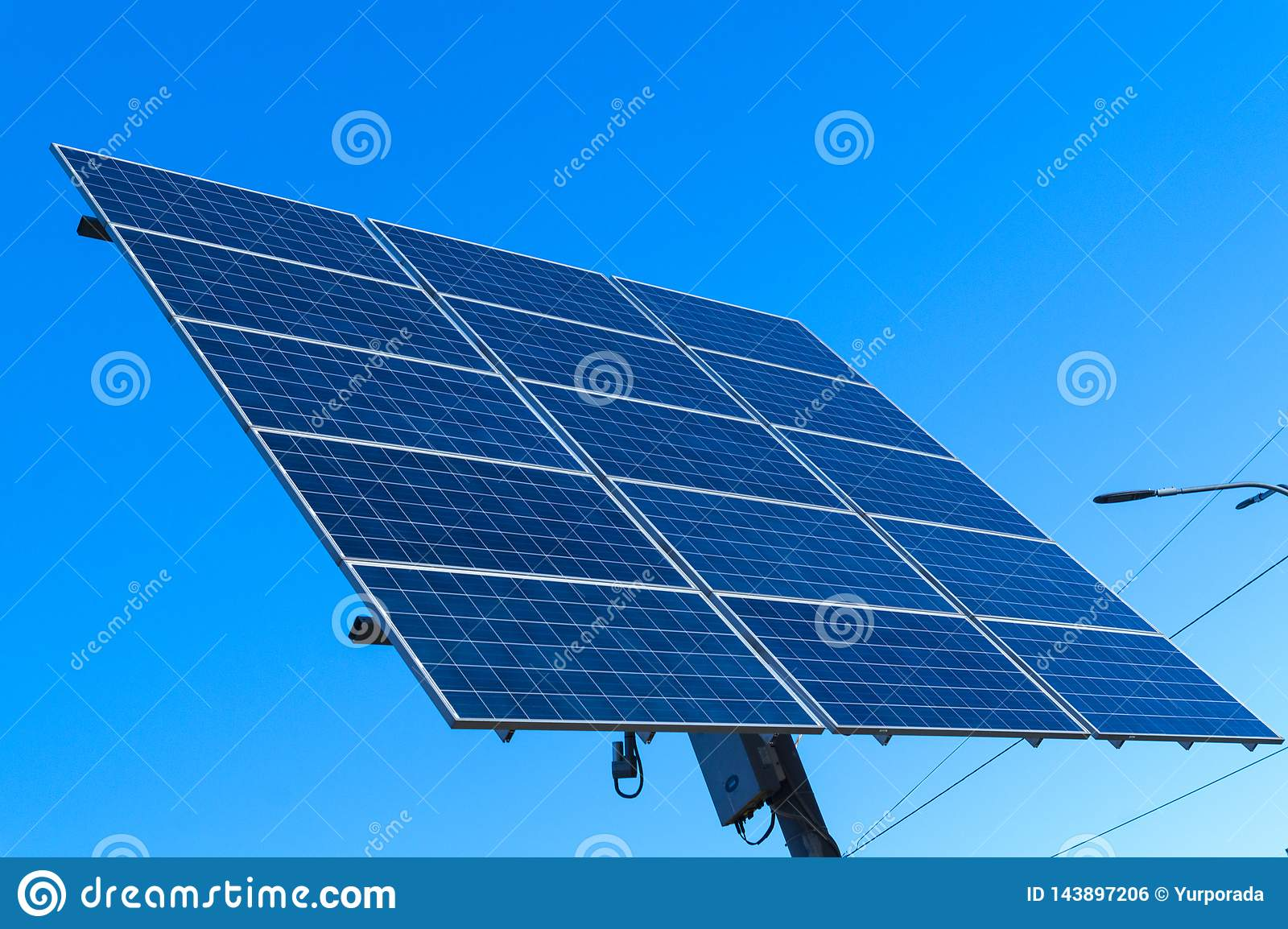 Solar panel, alternative electricity source - concept of sustainable resources