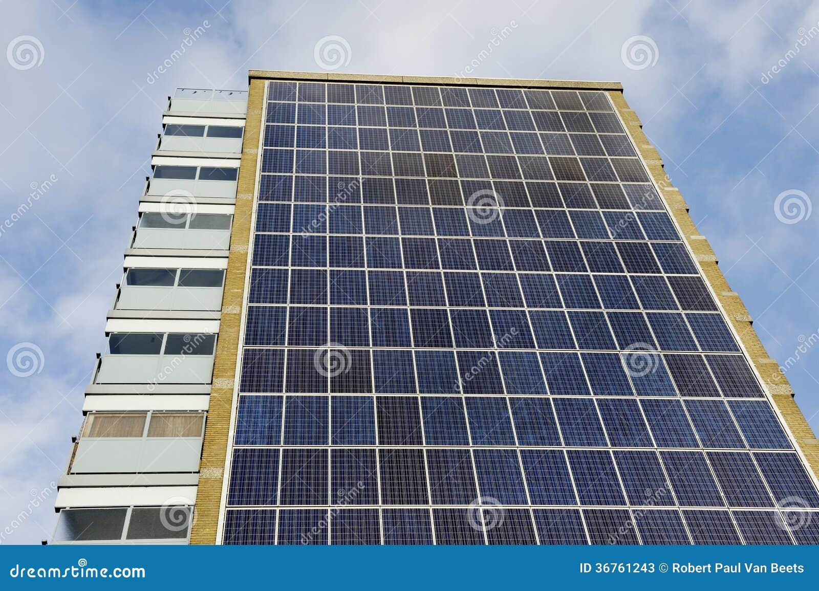 Solar Panel Apartment Building Stock Image Image Of Loft