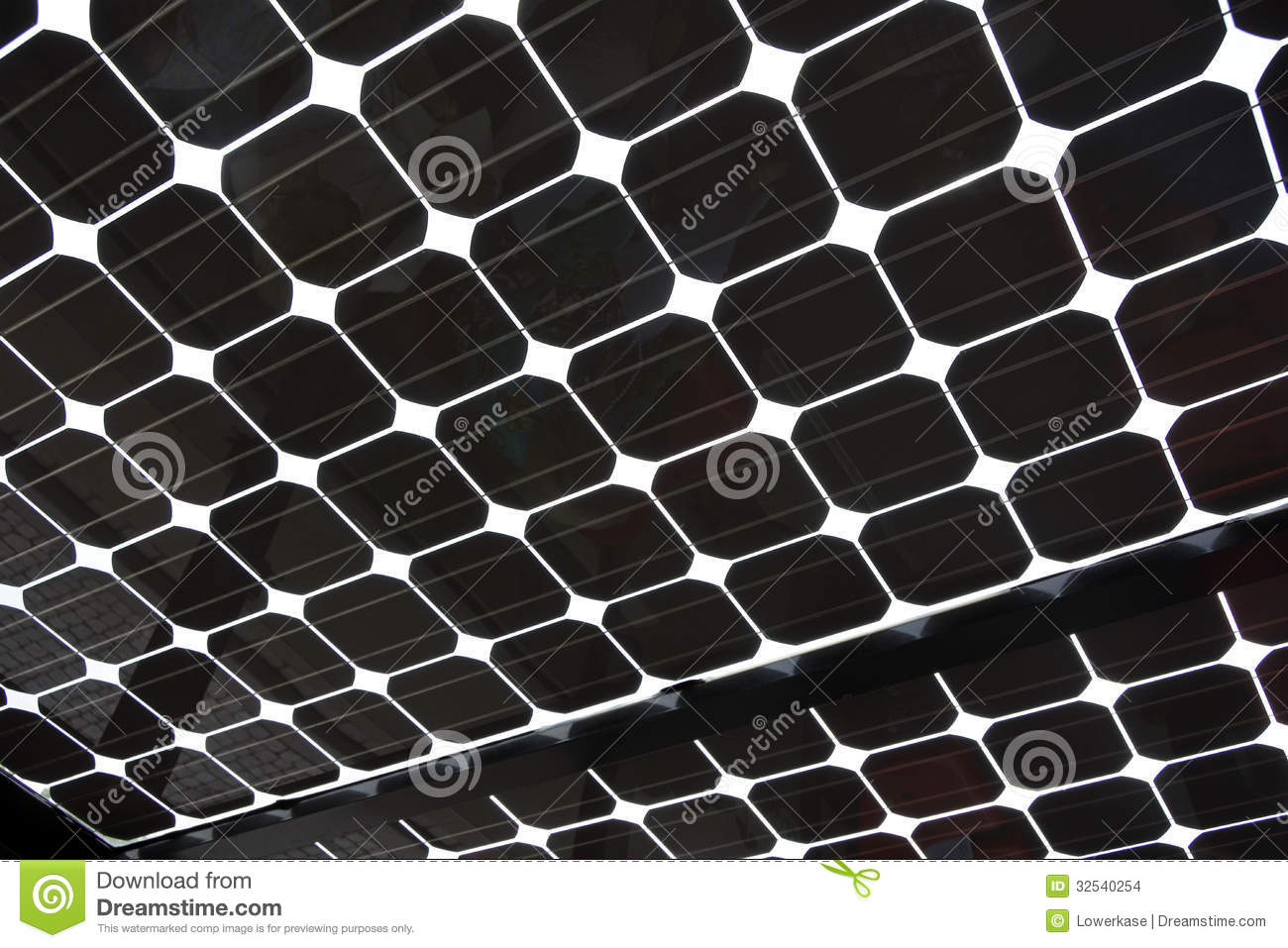 Solar Panel As Abstract Background Pattern Image Stock