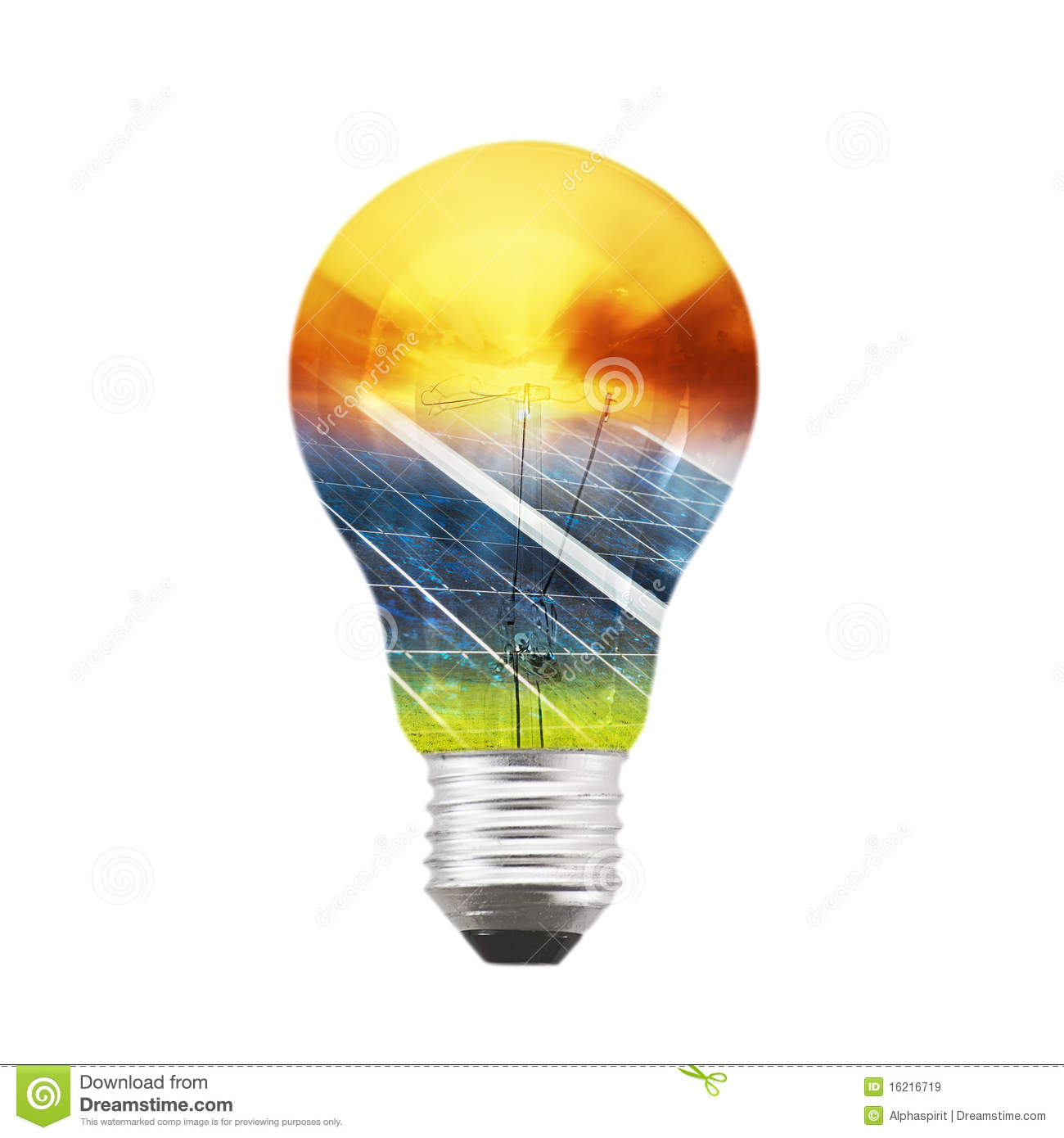 Solar Panel Bulb Royalty Free Stock Images Image 16216719