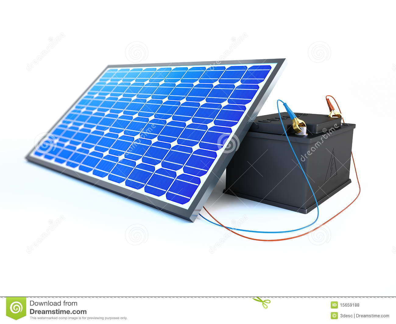 Solar Panel Charges The Battery Royalty Free Stock Photos - Image ...