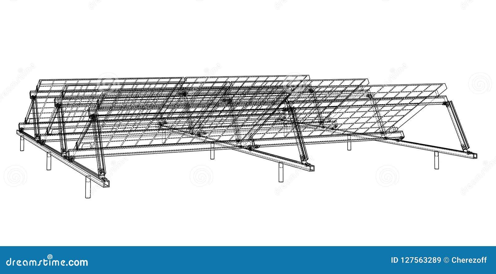 Solar Panel Concept stock vector. Illustration of savings - 127563289