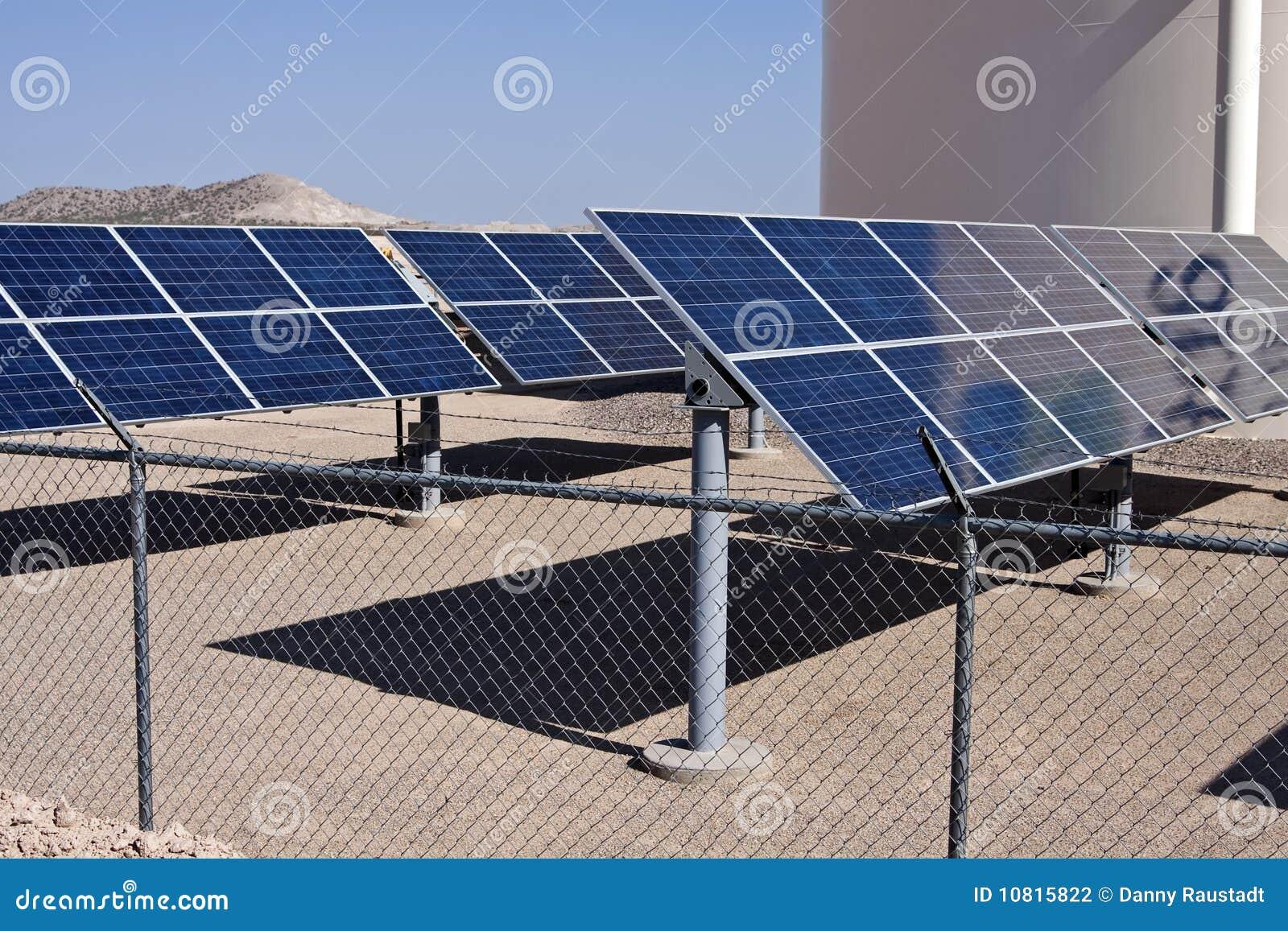 Solar Panel Energy Collector Farm Stock Photo Image Of