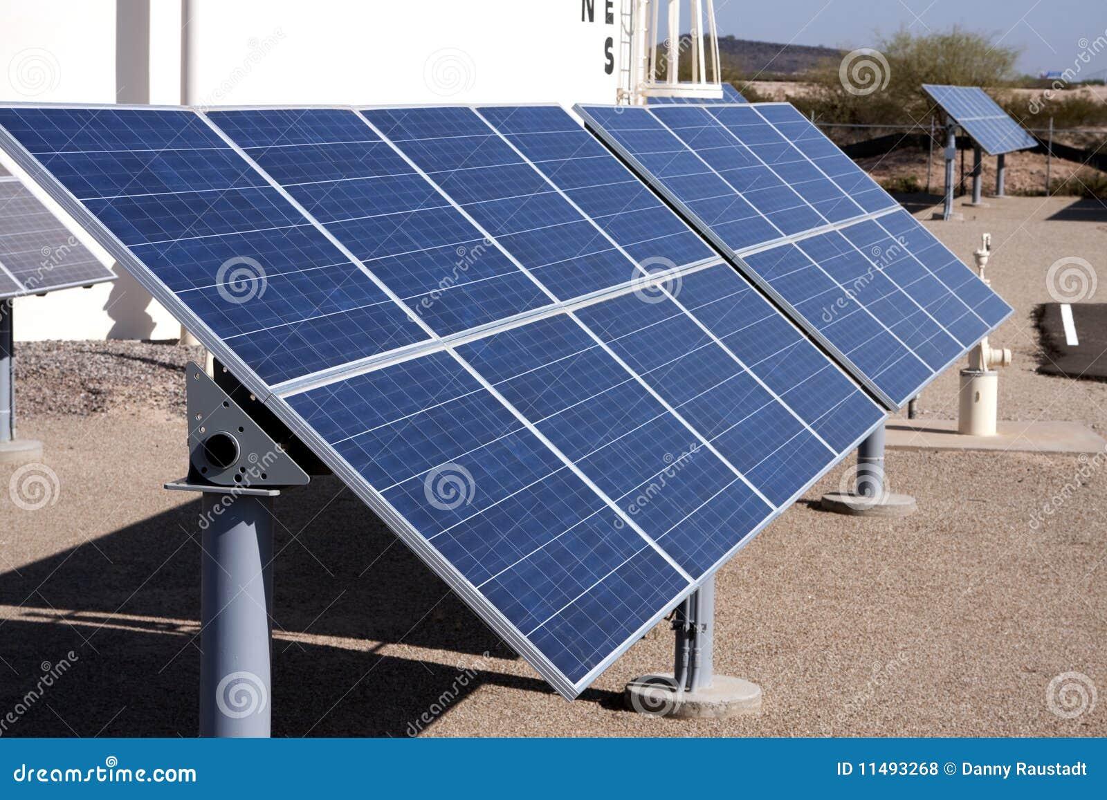 Solar Panel Energy Collector Farm Royalty Free Stock