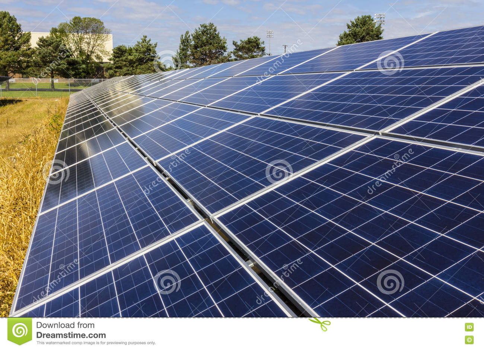 Solar Panel Energy Collector Farm Royalty Free Stock Image