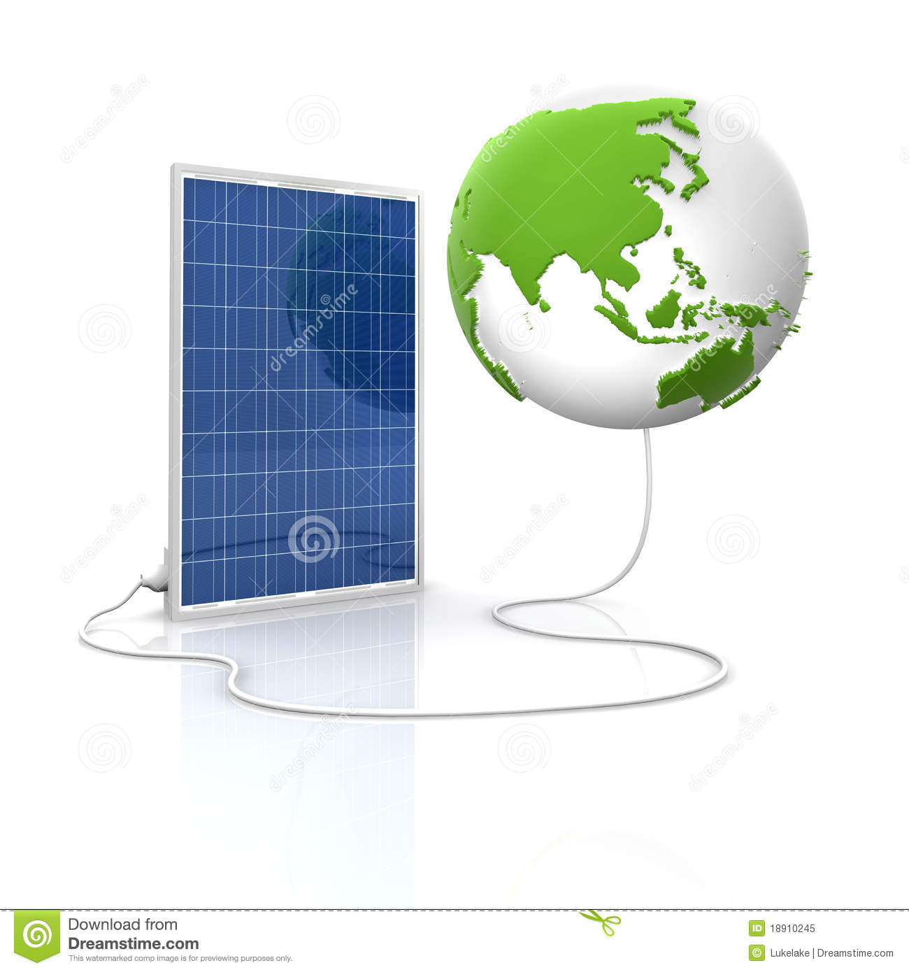 solar panel for green and renewable energy stock illustration, Powerpoint templates