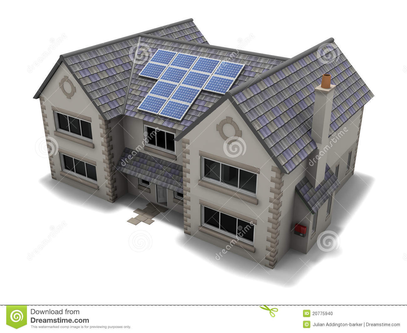 Solar Panel House stock illustration. Illustration of savings - 20775940