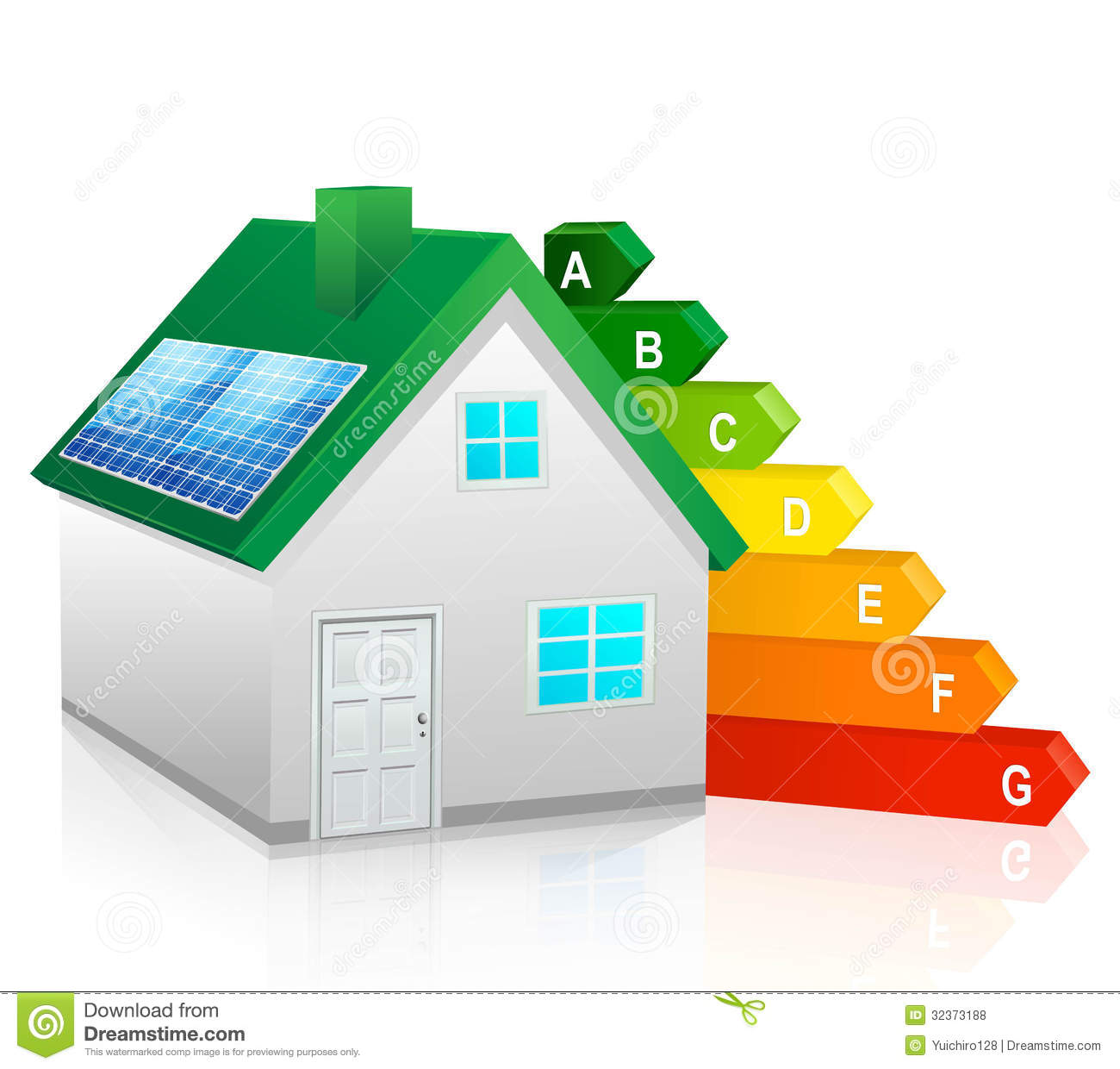 Solar Panel House Royalty Free Stock Photos Image 32373188