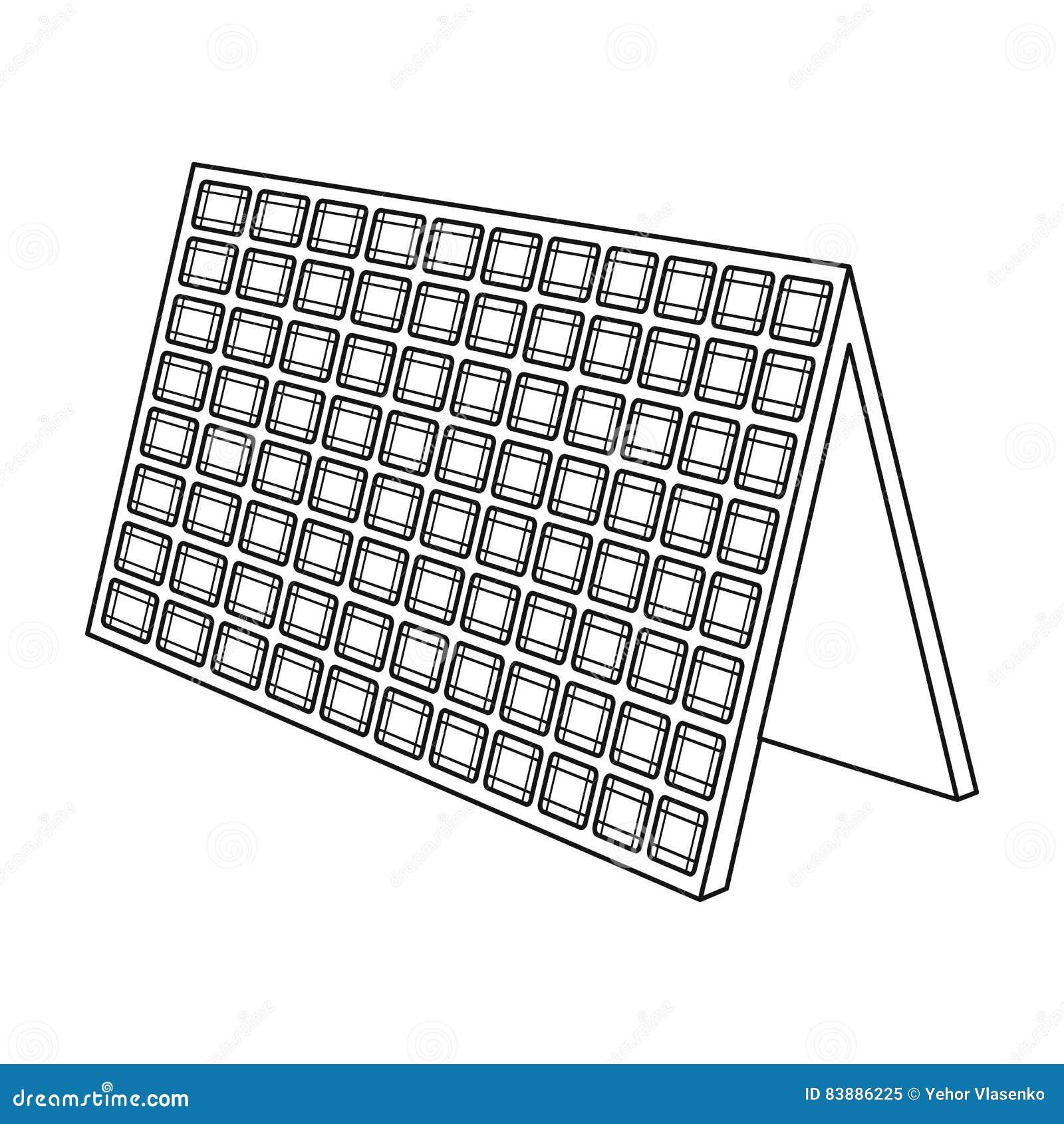 solar panel illustration royalty
