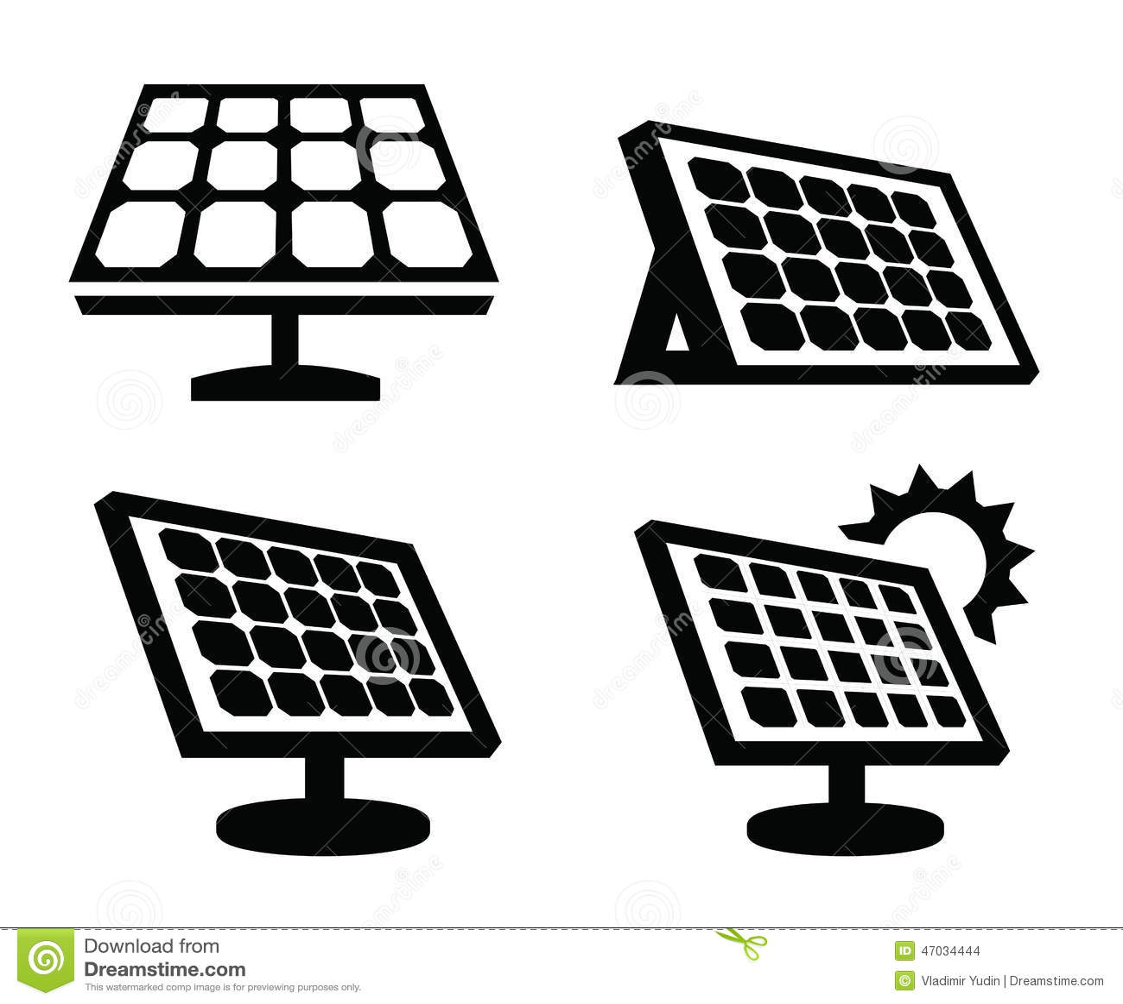 Solar Panel Icon Stock Vector - Image: 47034444