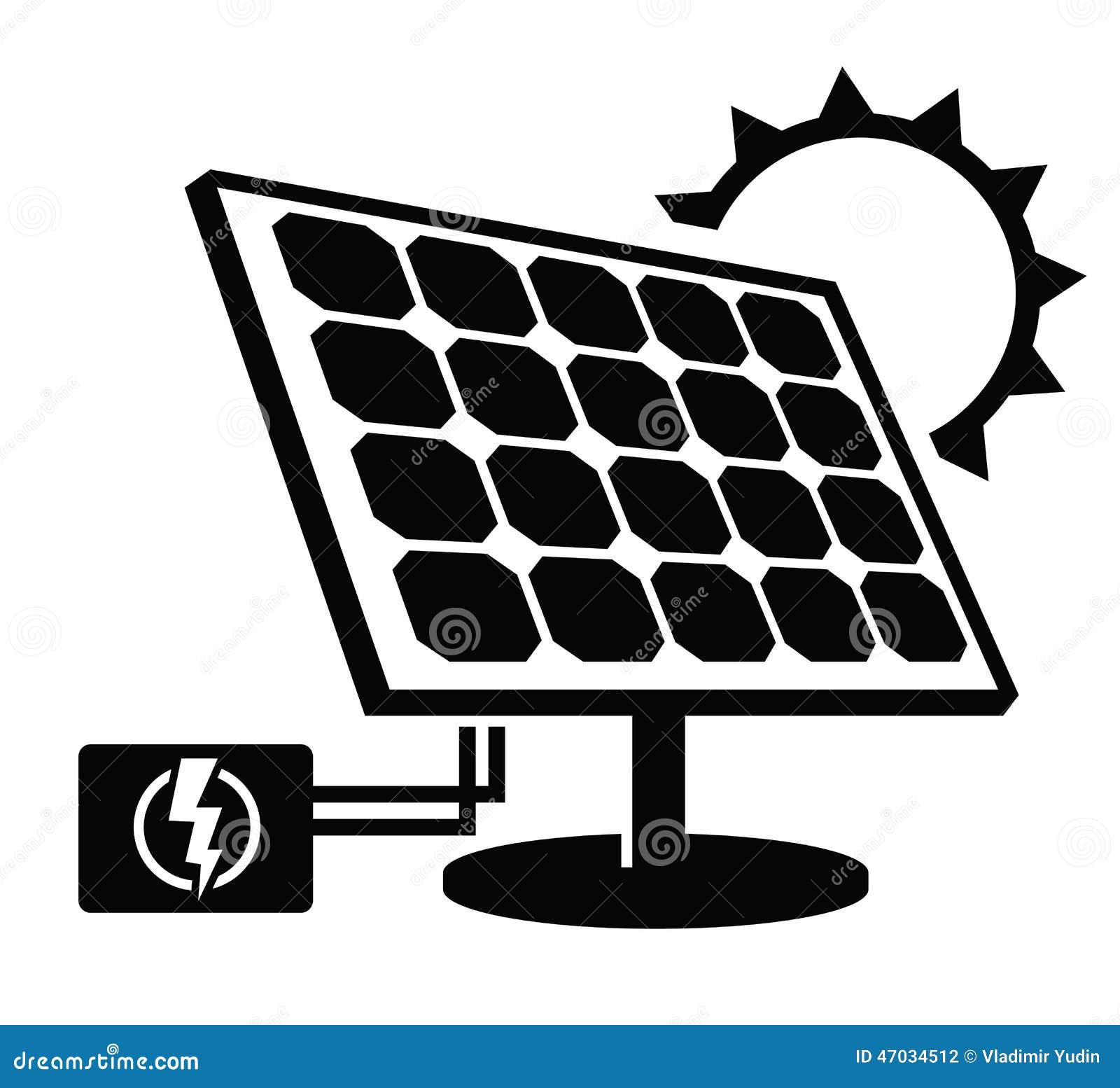 Solar Panel Icon Stock Vector - Image: 47034512