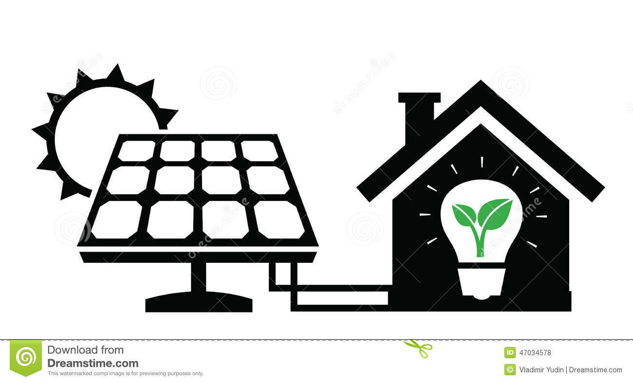 Vector black solar panel icon on white background.