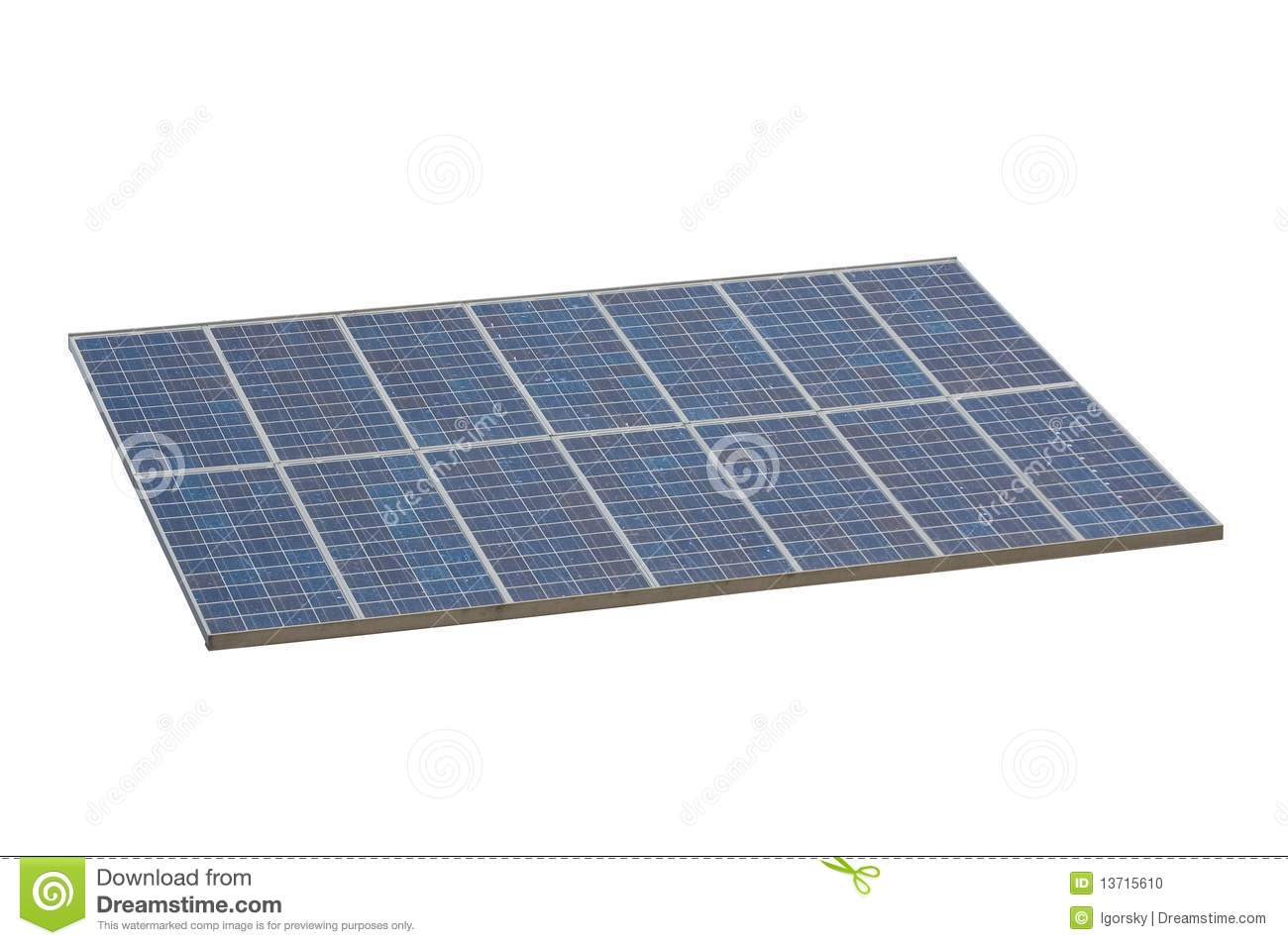Solar Panel , Isolted , White Background Stock Photo - Image: 13715610