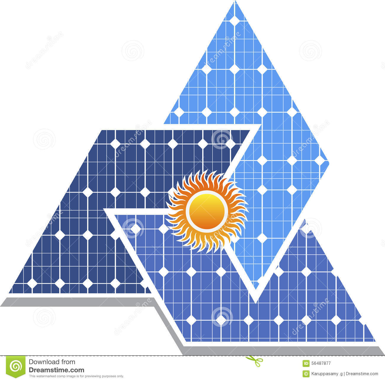 Solar Panel Logo Stock Vector Image 56487877