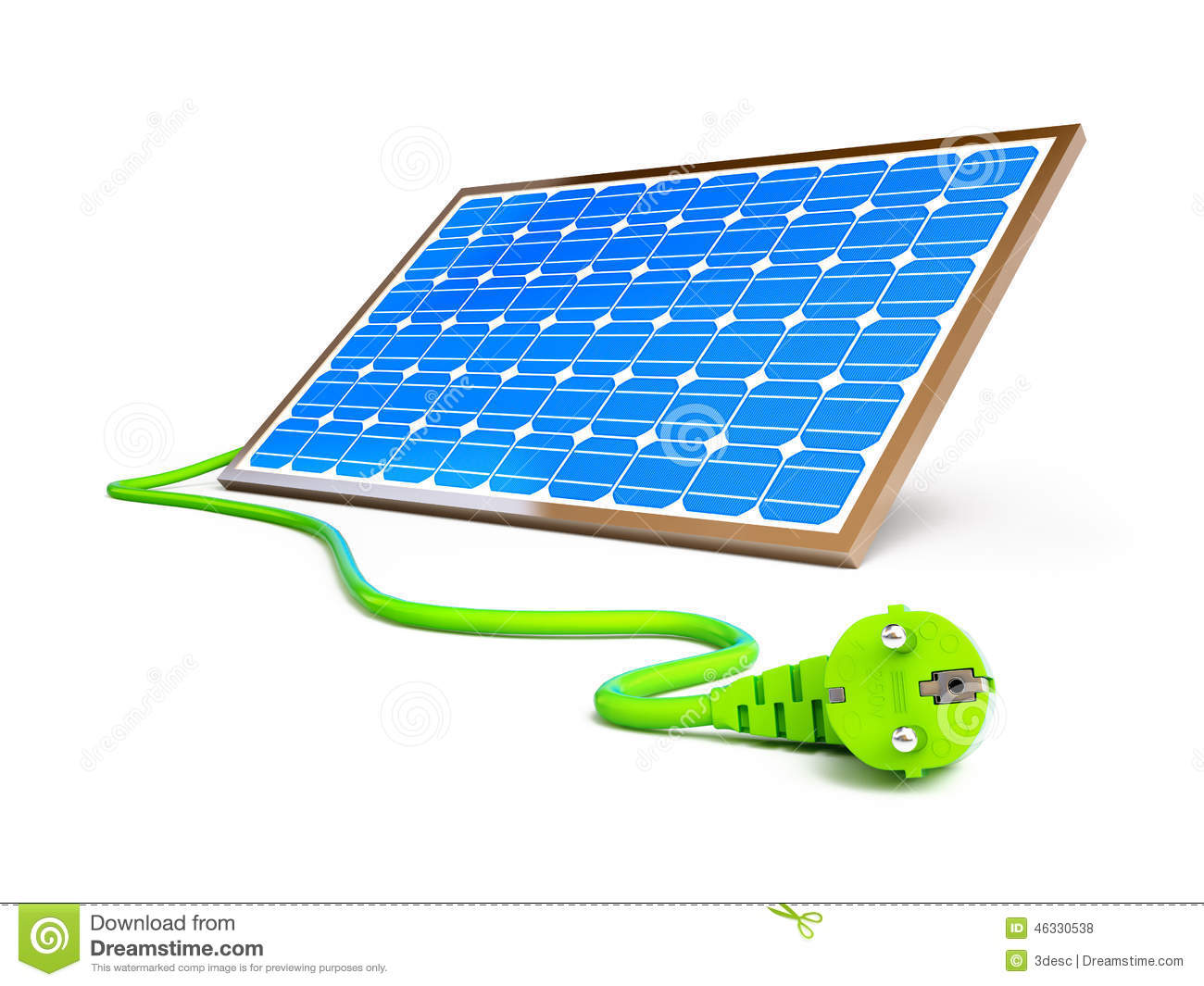 solar panel power plug stock illustration image 46330538. Black Bedroom Furniture Sets. Home Design Ideas