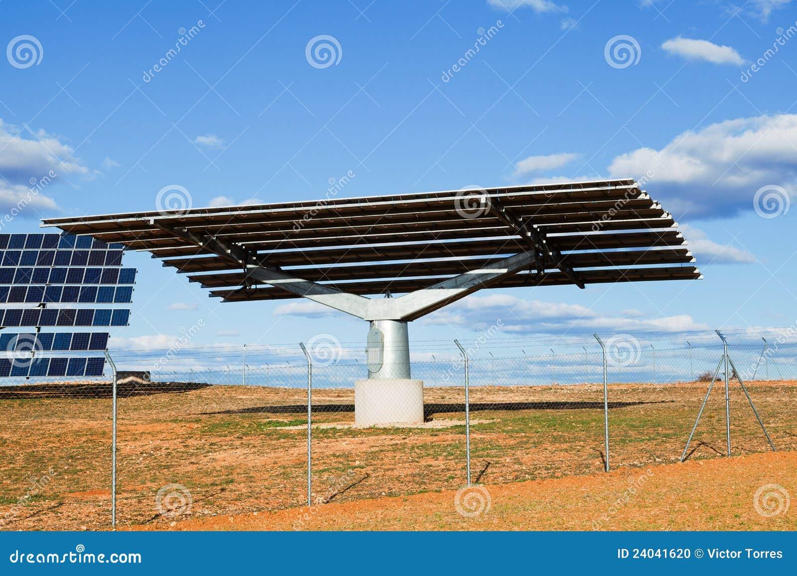 Solar Panel Structure Stock Photo - Image: 24041620