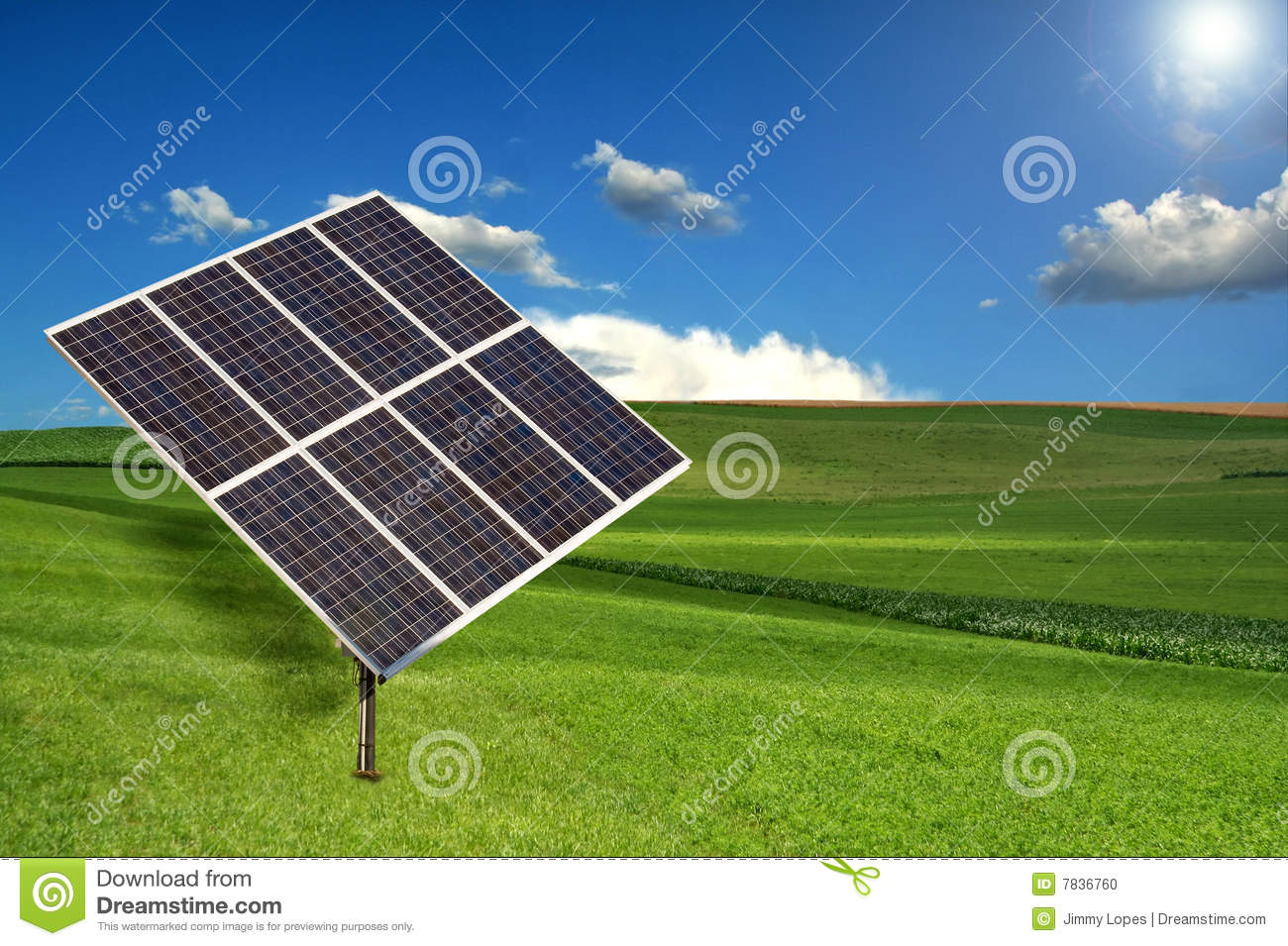 Solar Panel Sun Tracking System Stock Photo Image 7836760