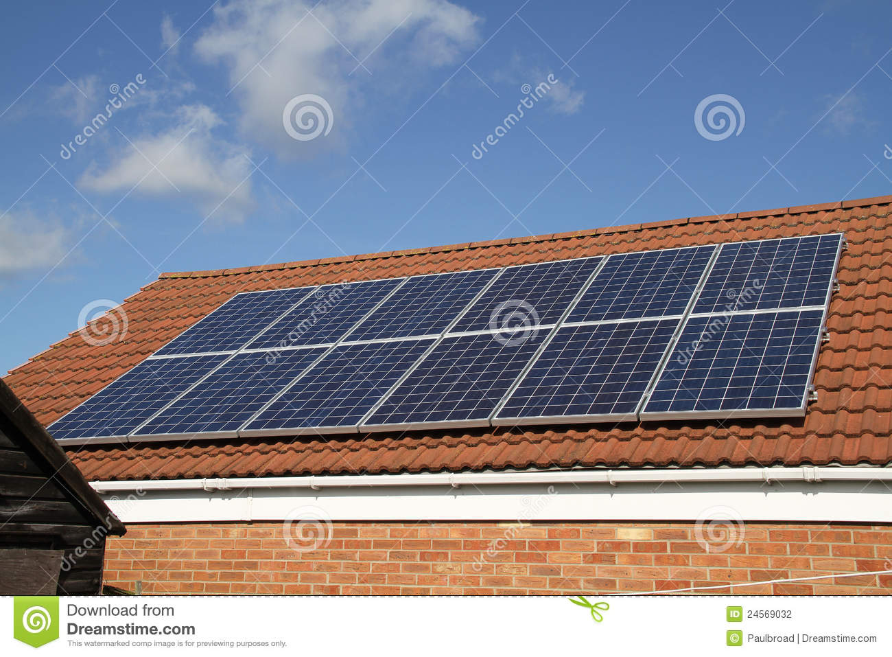 Solar Panels Stock Photo Image Of Selenium Environment 24569032 Ford Panel Roof Array On House In Uk Facing South To Generate Electricity