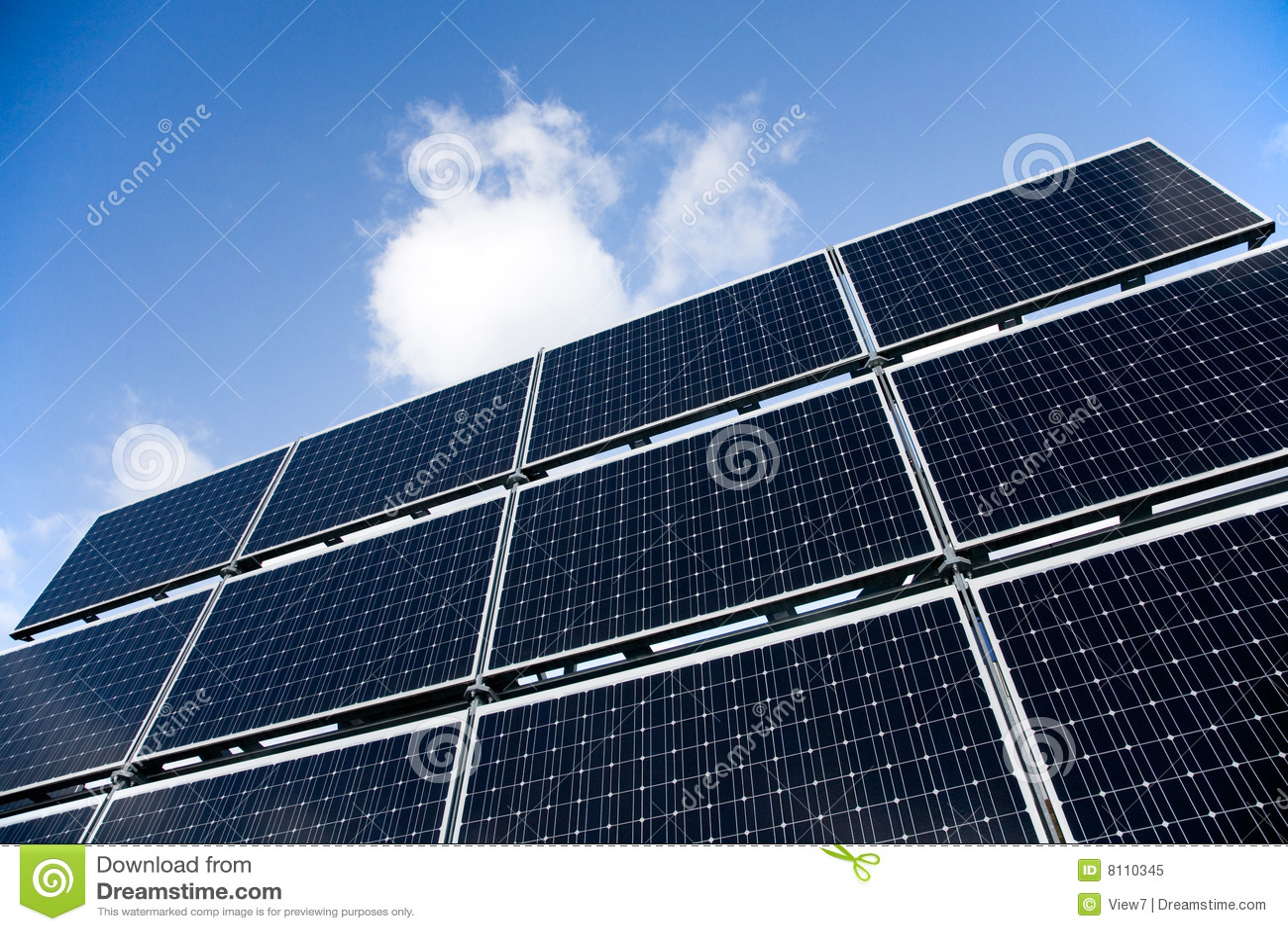 Скачать Eco Technology Flat Icons: Blue Solar Panels. Flat 3d Web Isometric. Modern