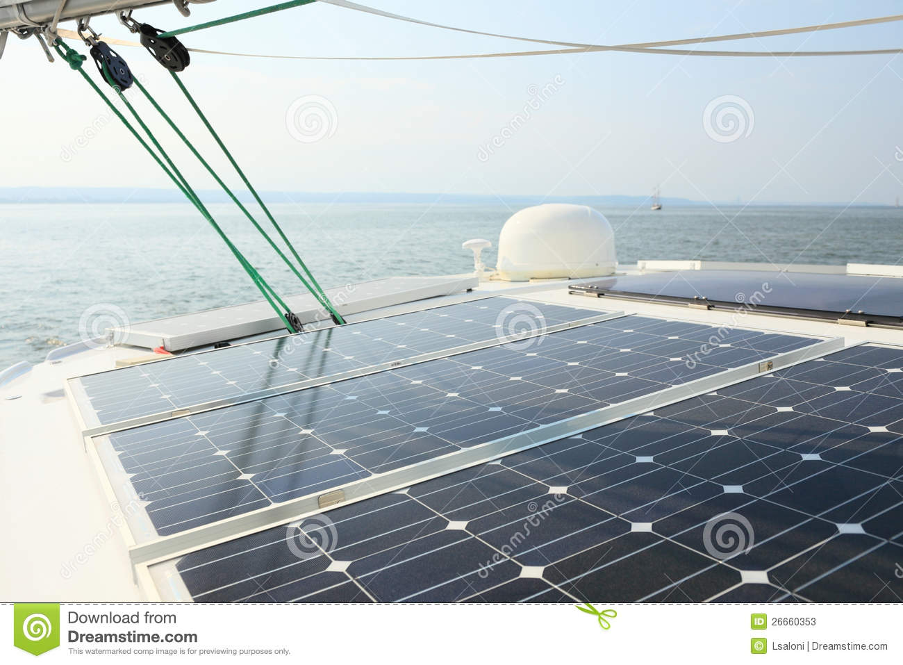 ... Charging Batteries Aboard Sail Boat Stock Photos - Image: 26660353