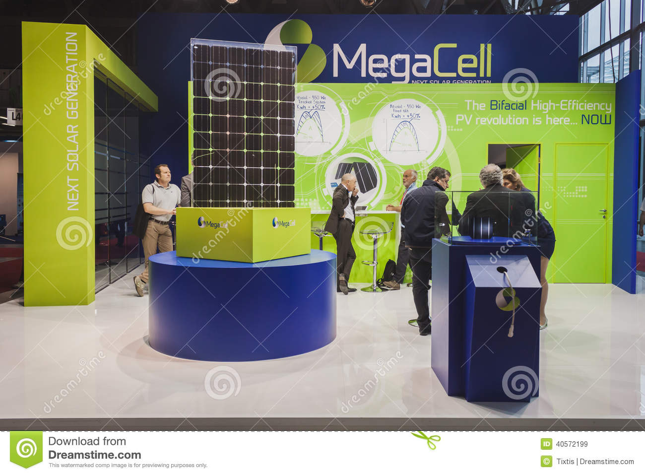 Exhibition Stall Panels : Solar panels on display at solarexpo in milan italy