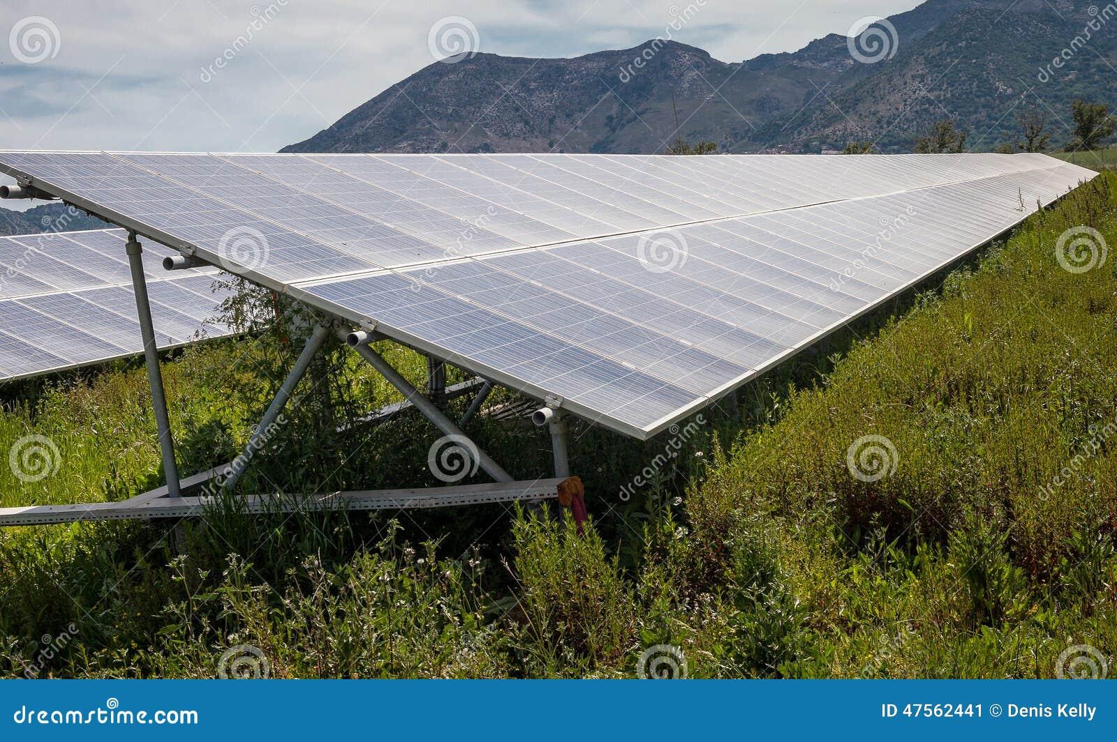 Solar Panels on Farmland - Renewable Energy