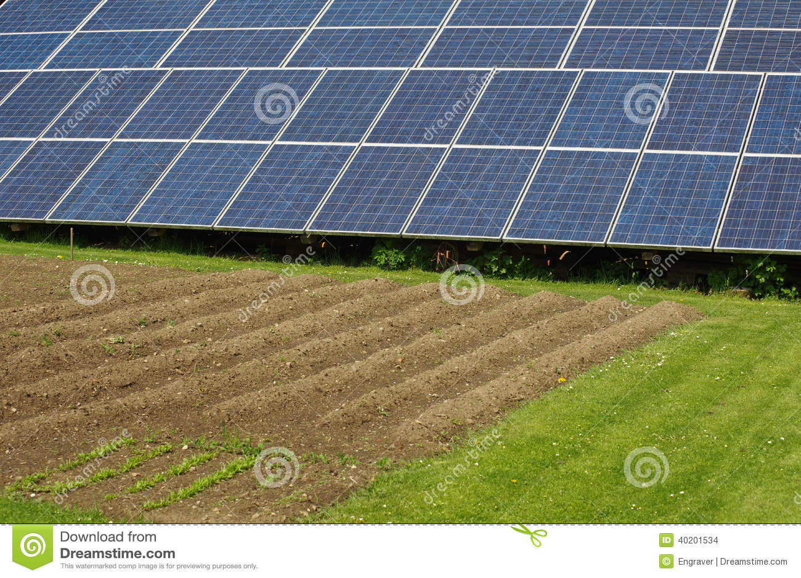 solar panels in the garden 3 stock photo image 40201534