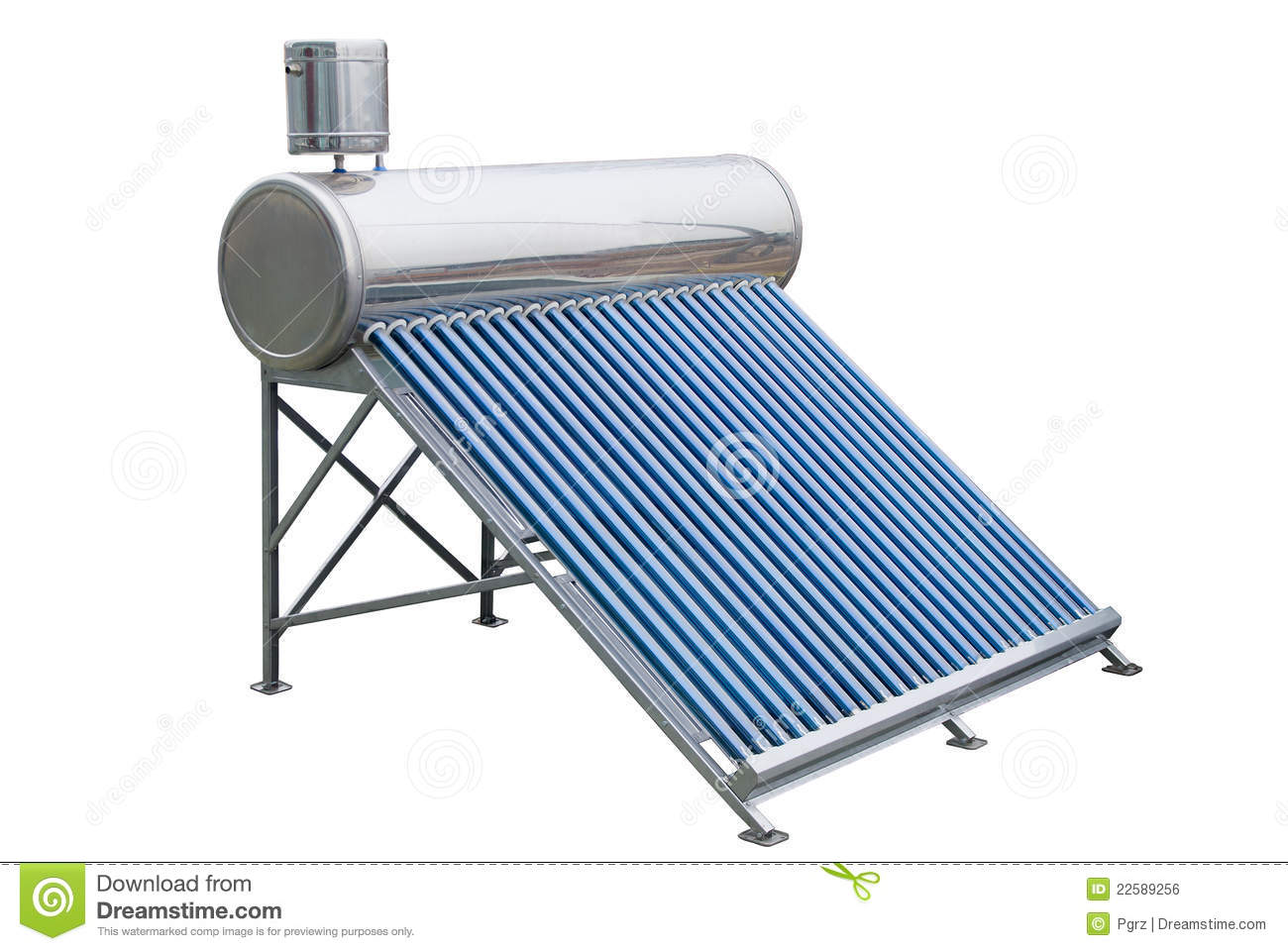 Solar Panels For Hot Water Royalty Free Stock Image - Image: 22589256