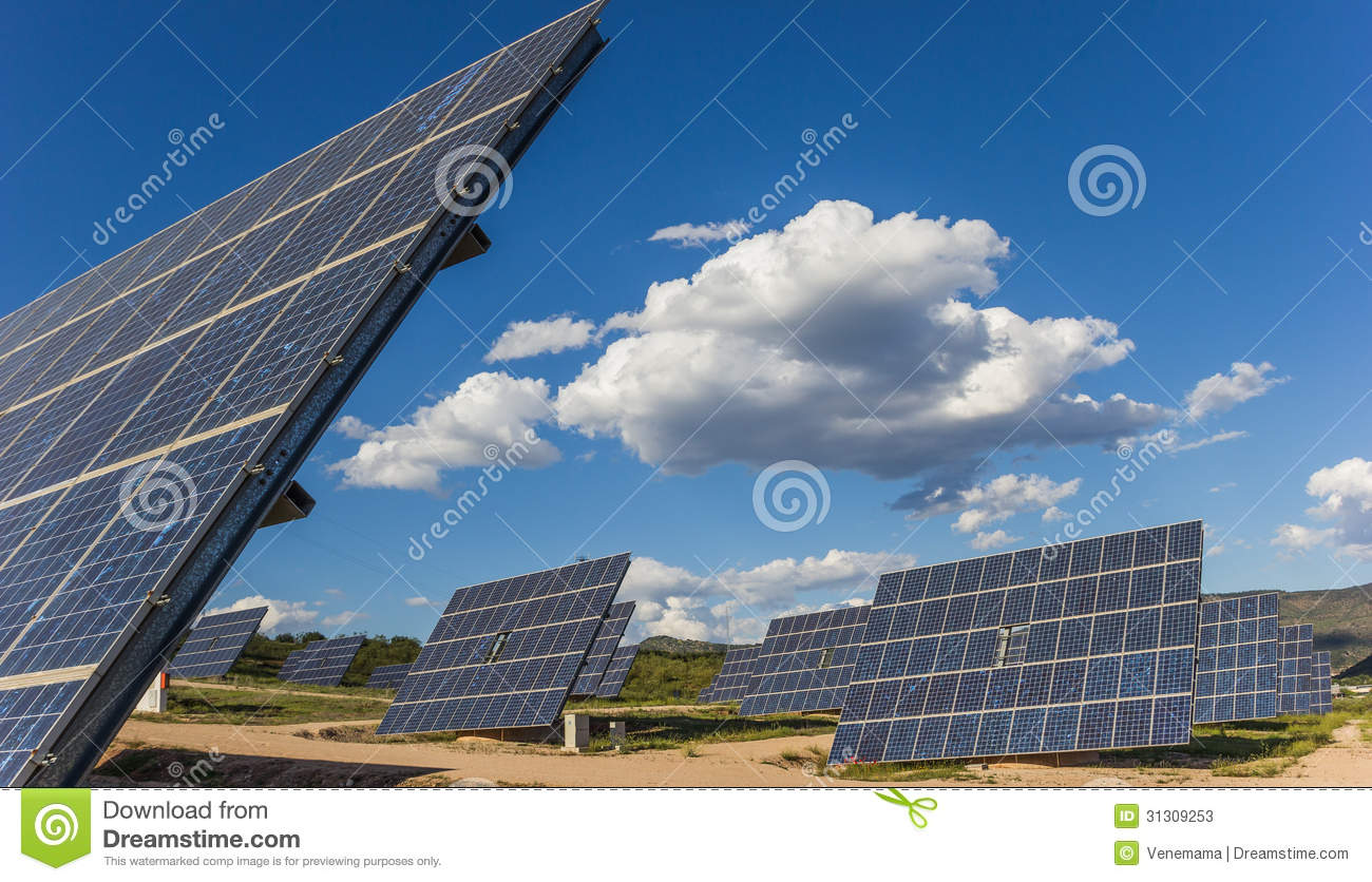 Solar Panels Stock Photos Image 31309253