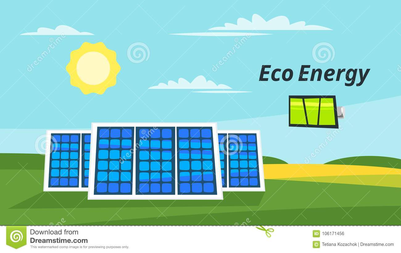 Cartoon Of A Solar Panel Diagram Trusted Wiring Diagrams Solarpaneldiagram Panels On The Meadow Stock Vector Illustration Ecology Pictures About