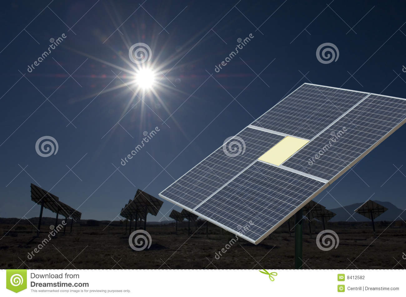 renewable resource at a solar energy power station in New Mexico