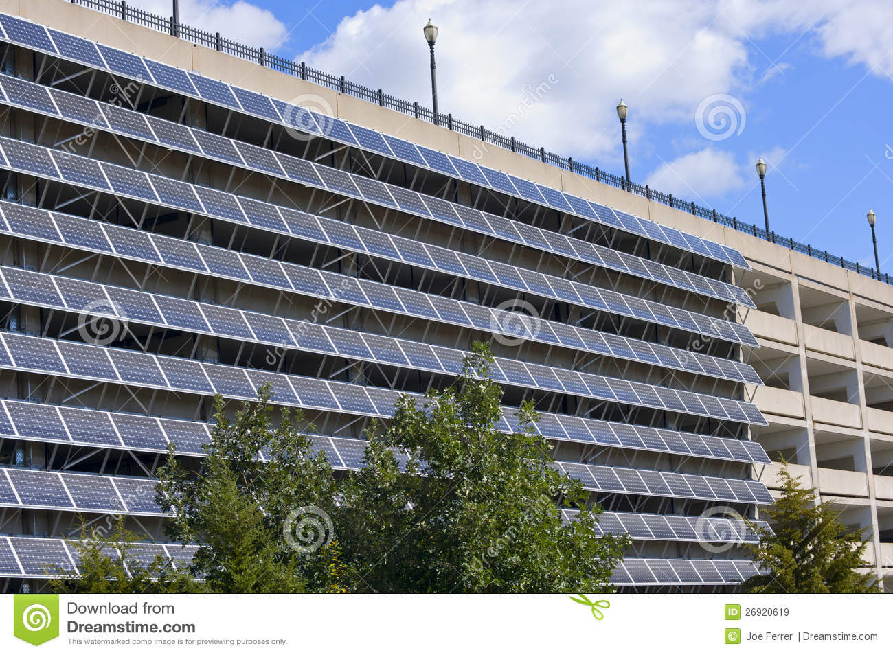 Solar Panels Parking Garage
