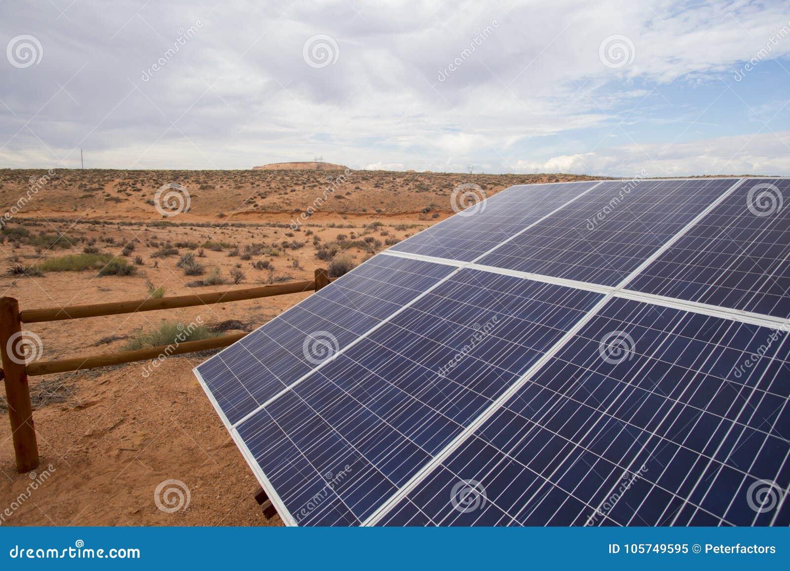Solar panels in remote area