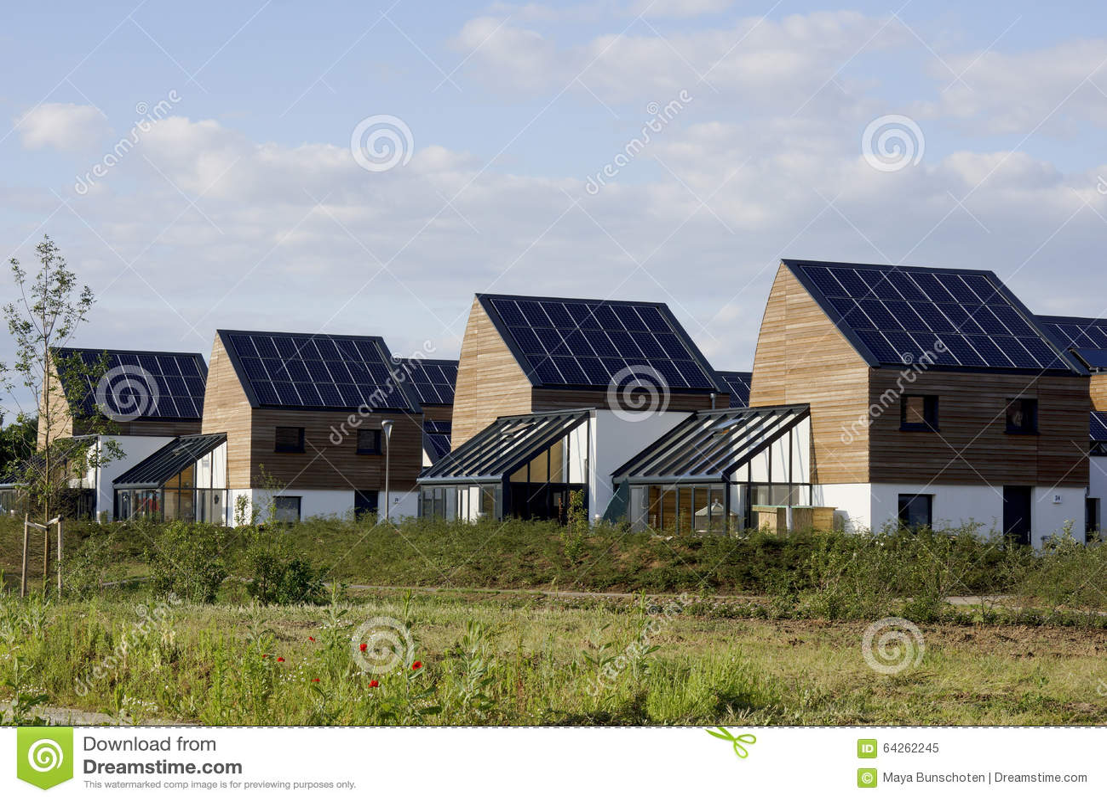 Solar Panels Stock Photo Image 64262245