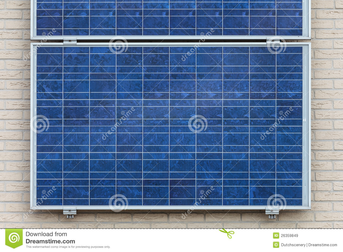 Solar Panels On A Vertical Wall Royalty Free Stock Images
