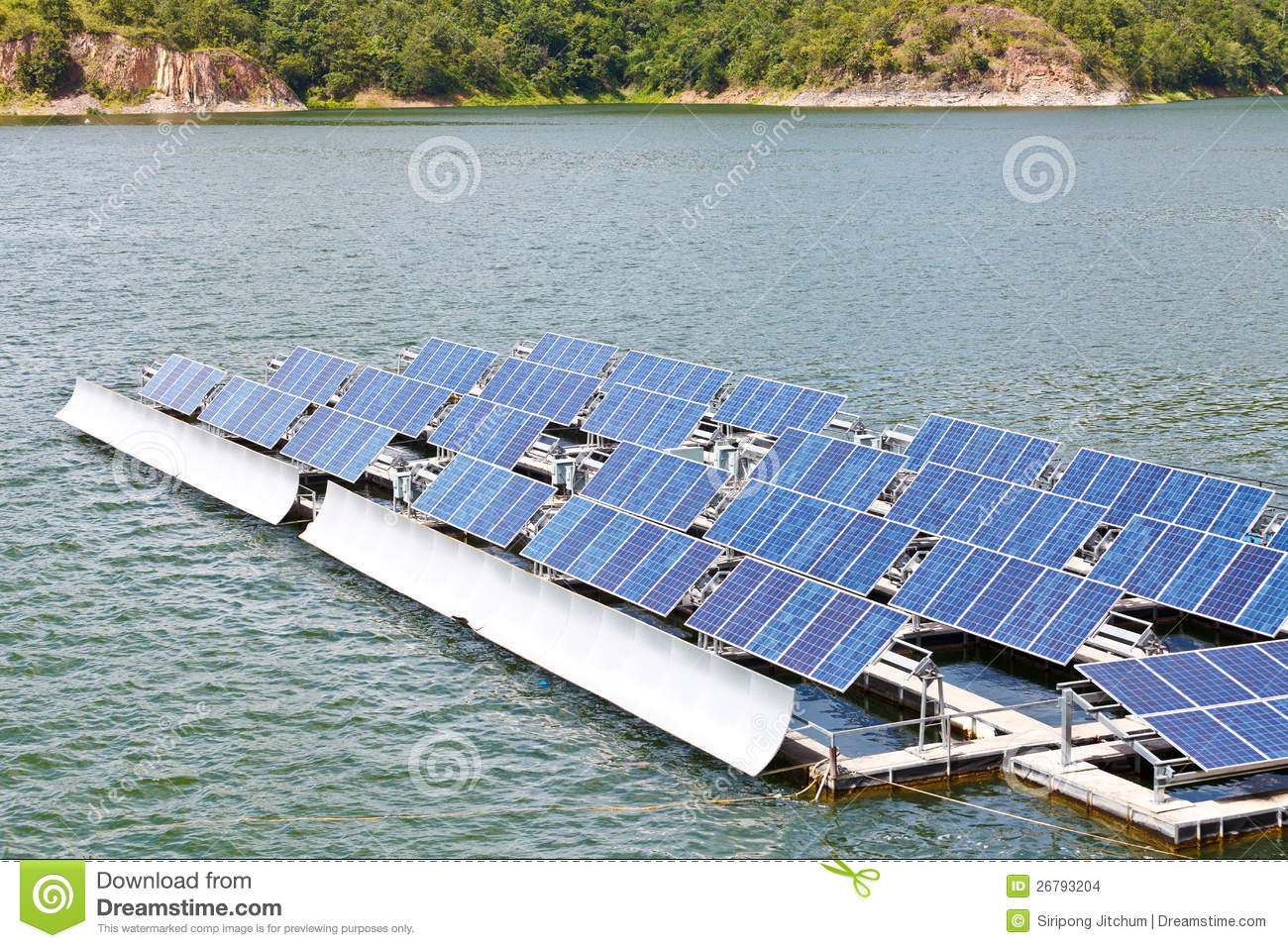 Solar Panels On The Water. Stock Images - Image: 26793204
